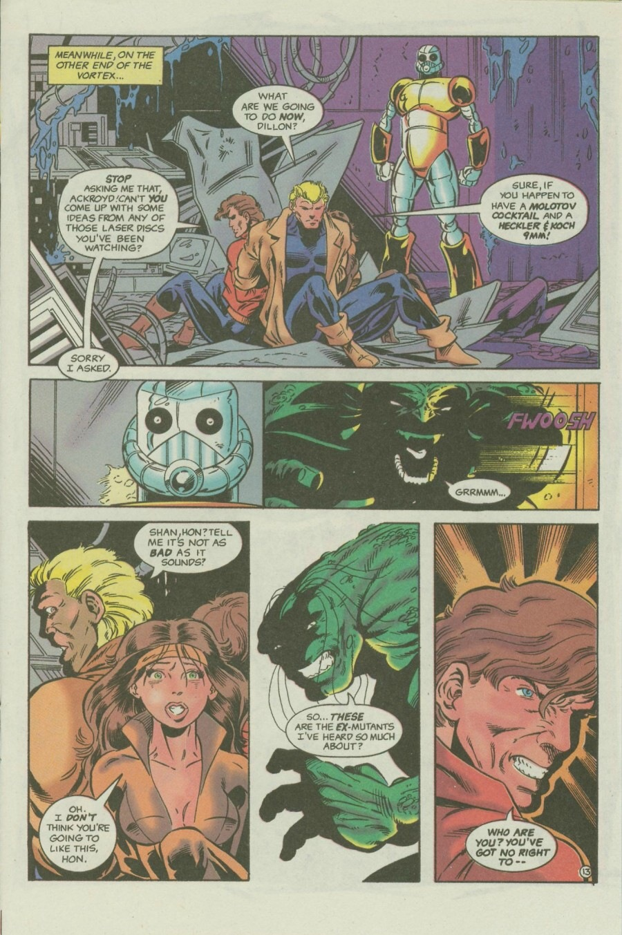 Read online Ex-Mutants comic -  Issue #6 - 17
