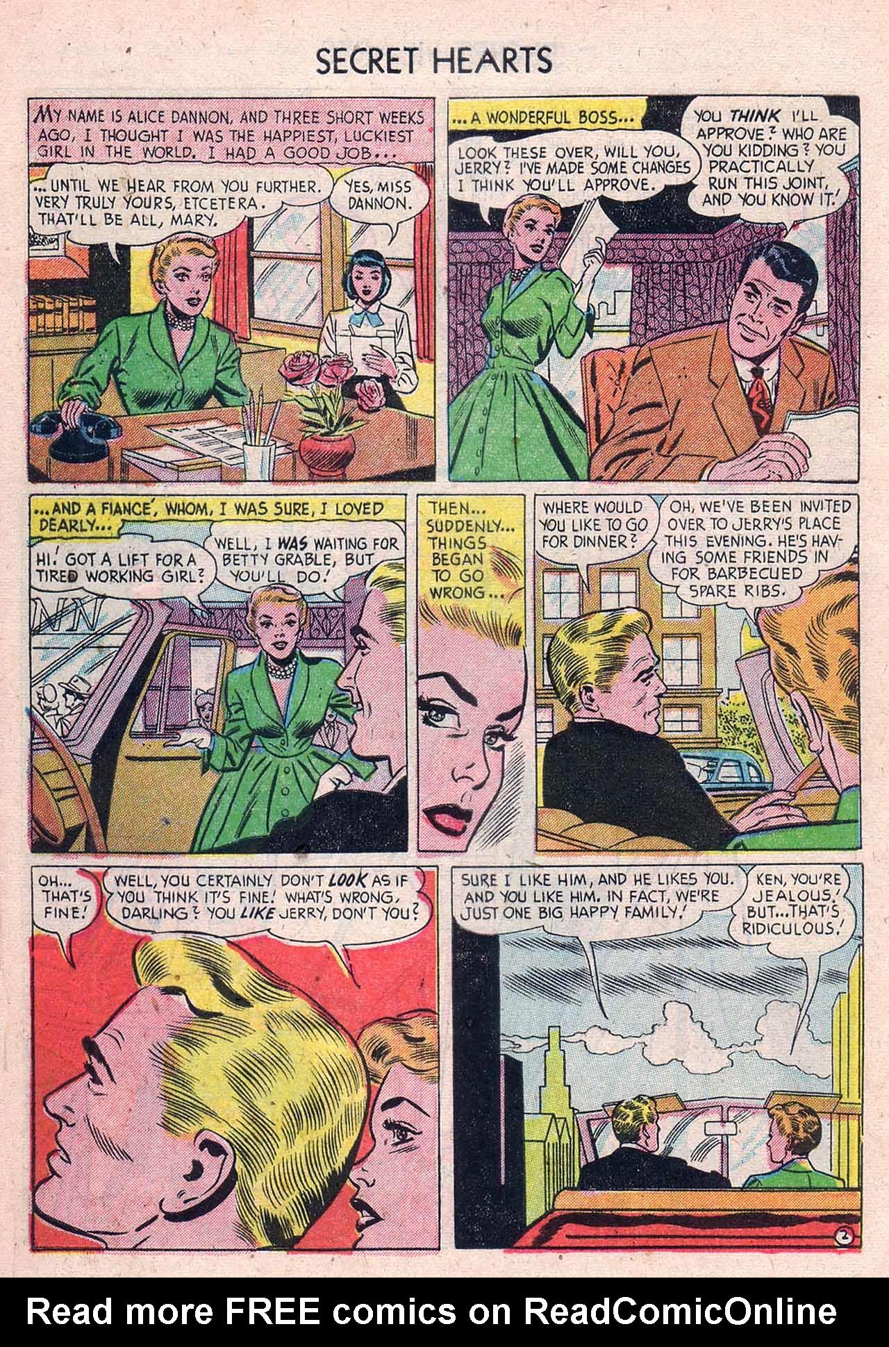 Read online Secret Hearts comic -  Issue #12 - 28