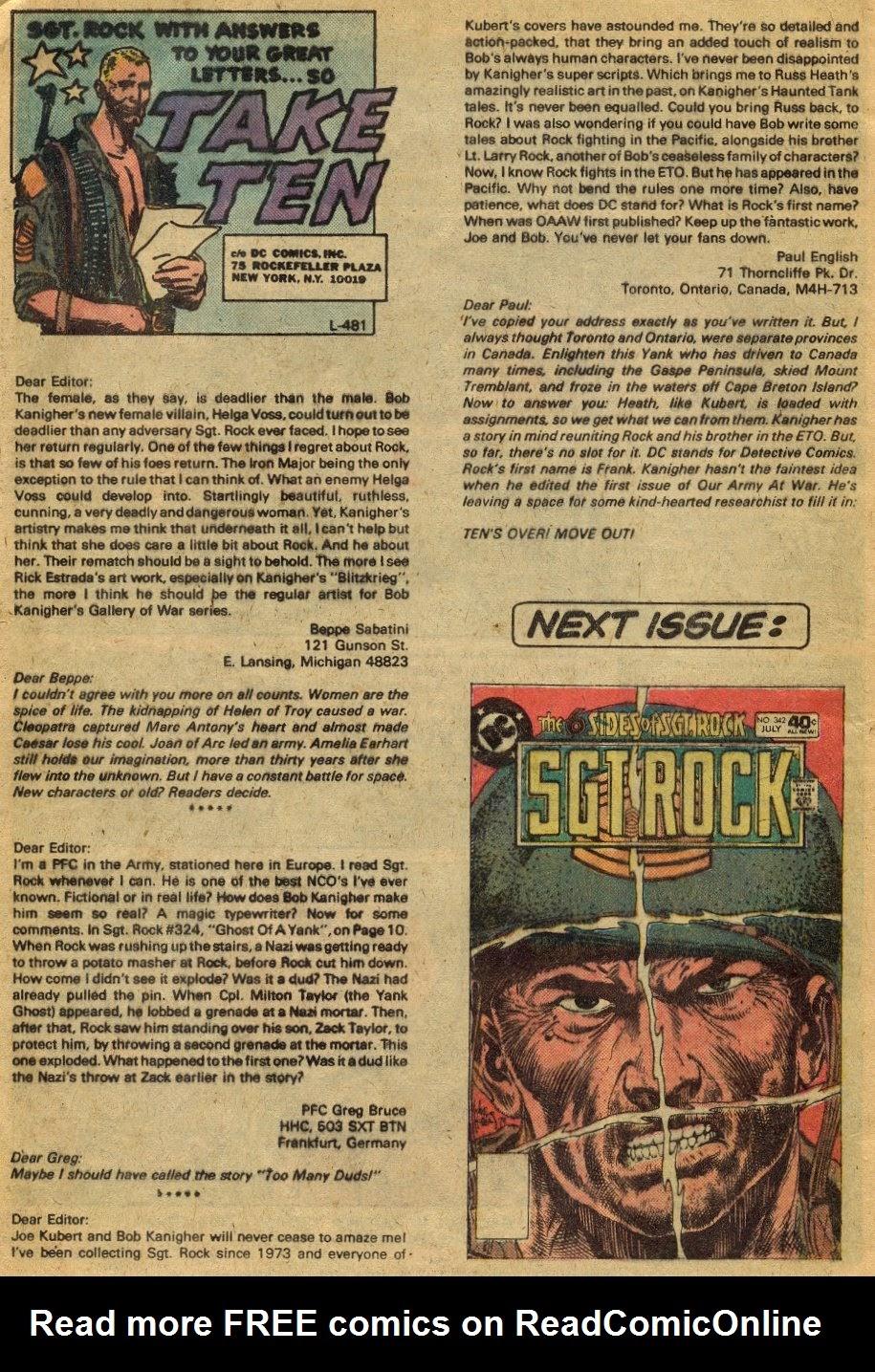 Read online Sgt. Rock comic -  Issue #341 - 19