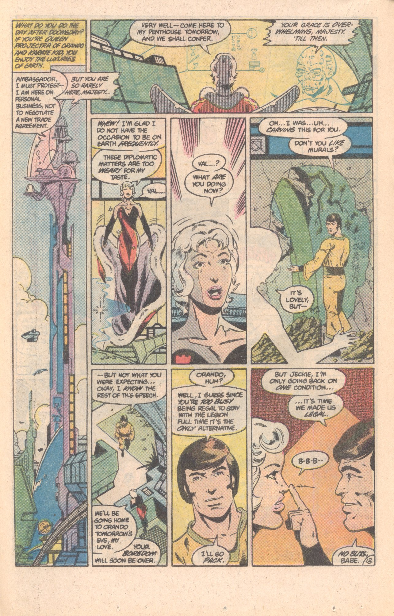 Legion of Super-Heroes (1980) 296 Page 13