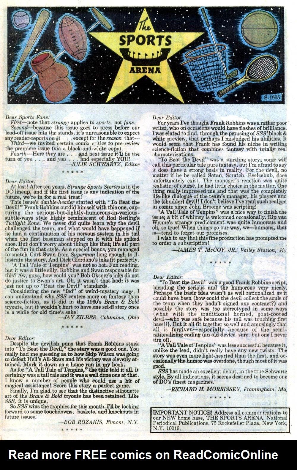 Read online Strange Sports Stories (1973) comic -  Issue #2 - 23