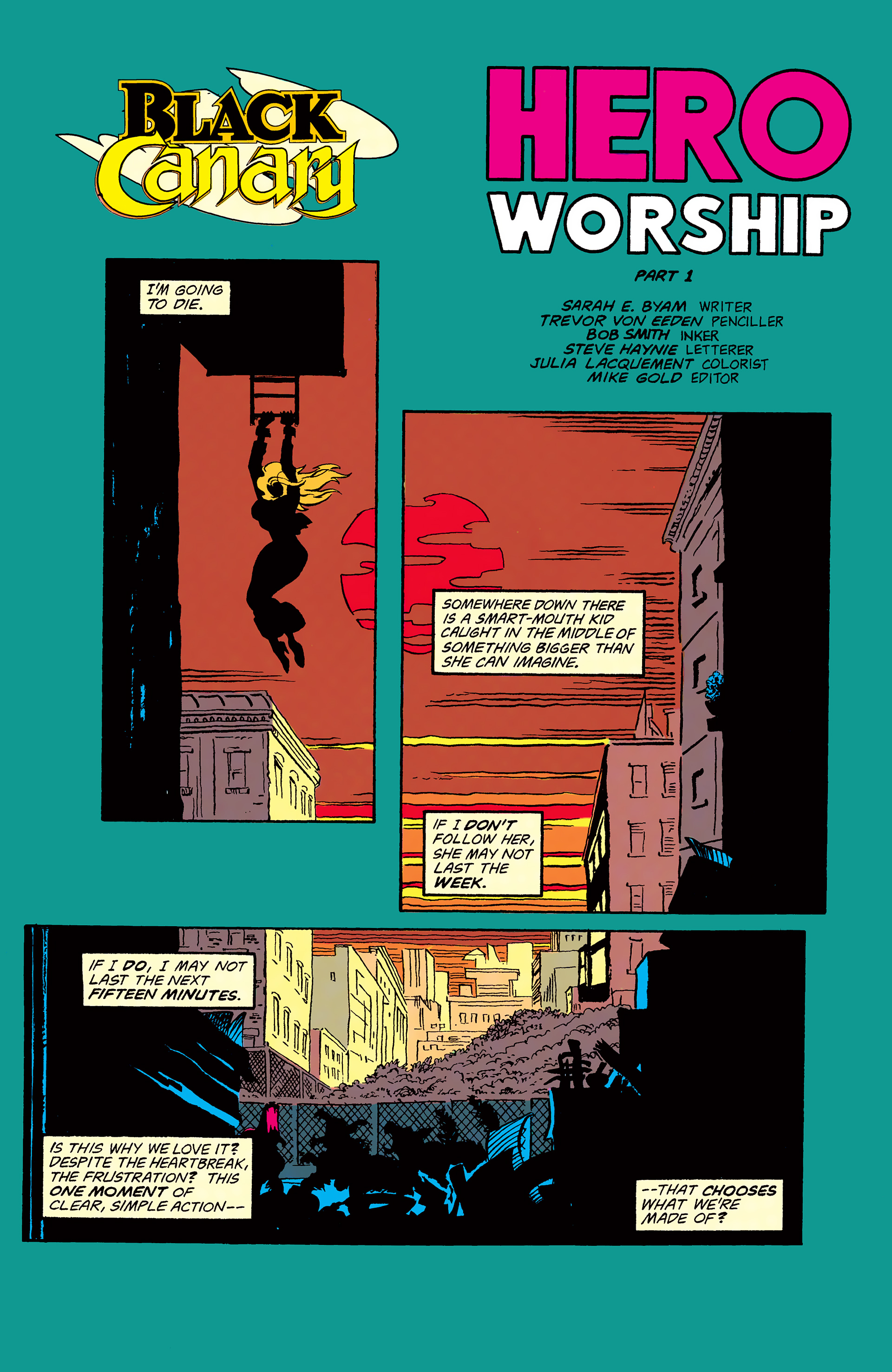 Black Canary (1993) 1 Page 2