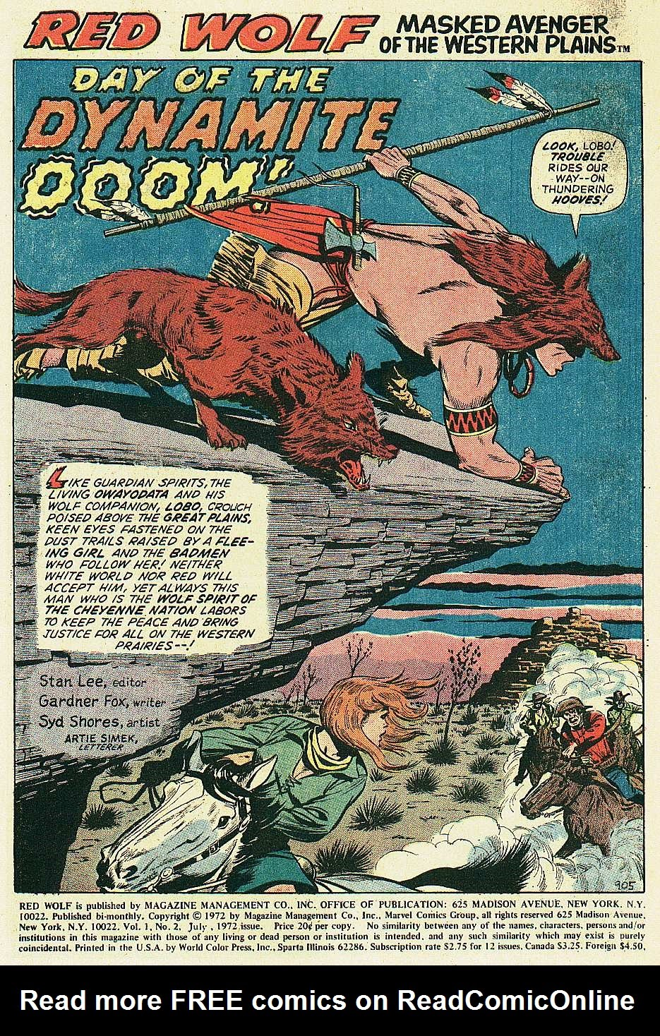 Red Wolf (1972) issue 2 - Page 2