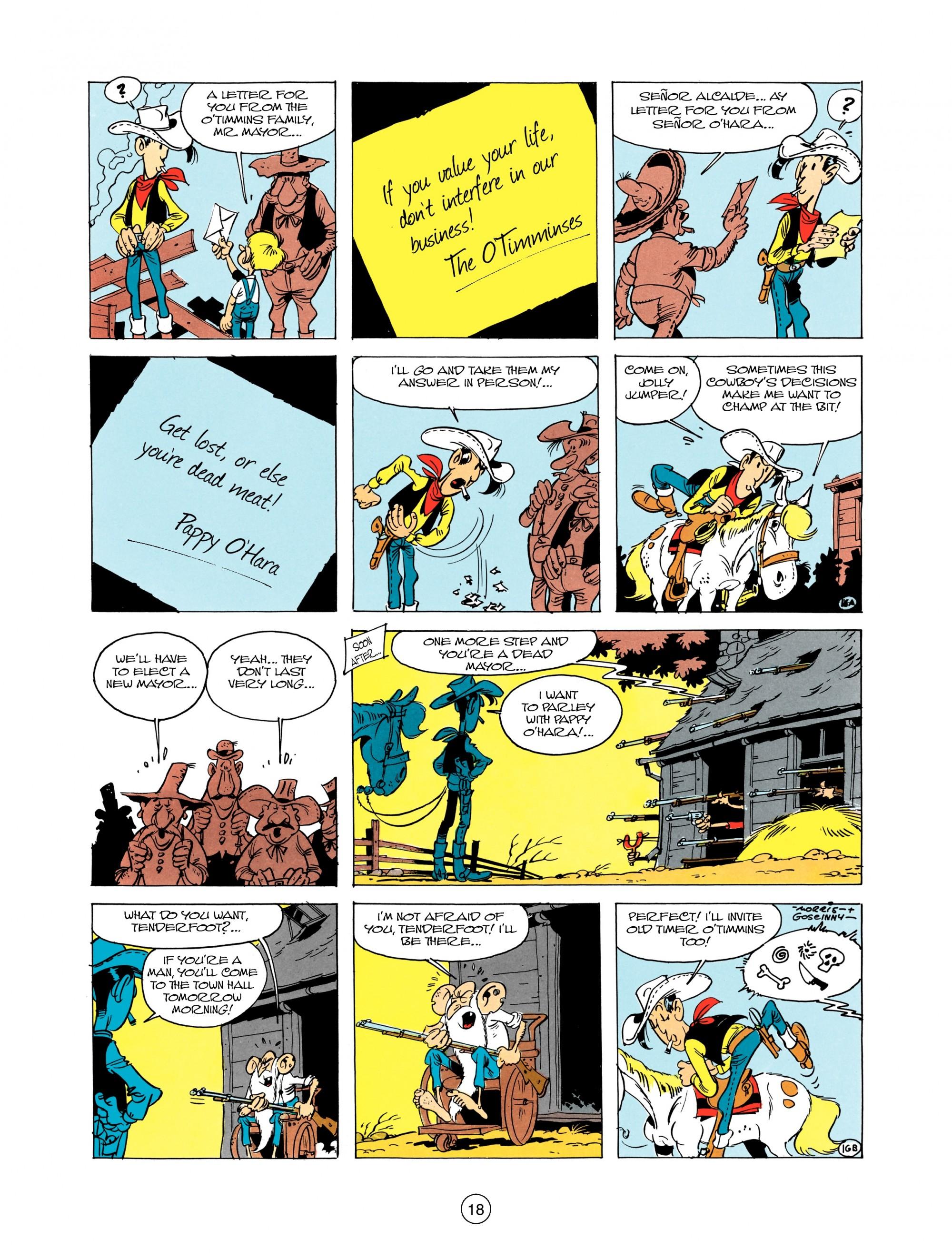 Read online A Lucky Luke Adventure comic -  Issue #12 - 18