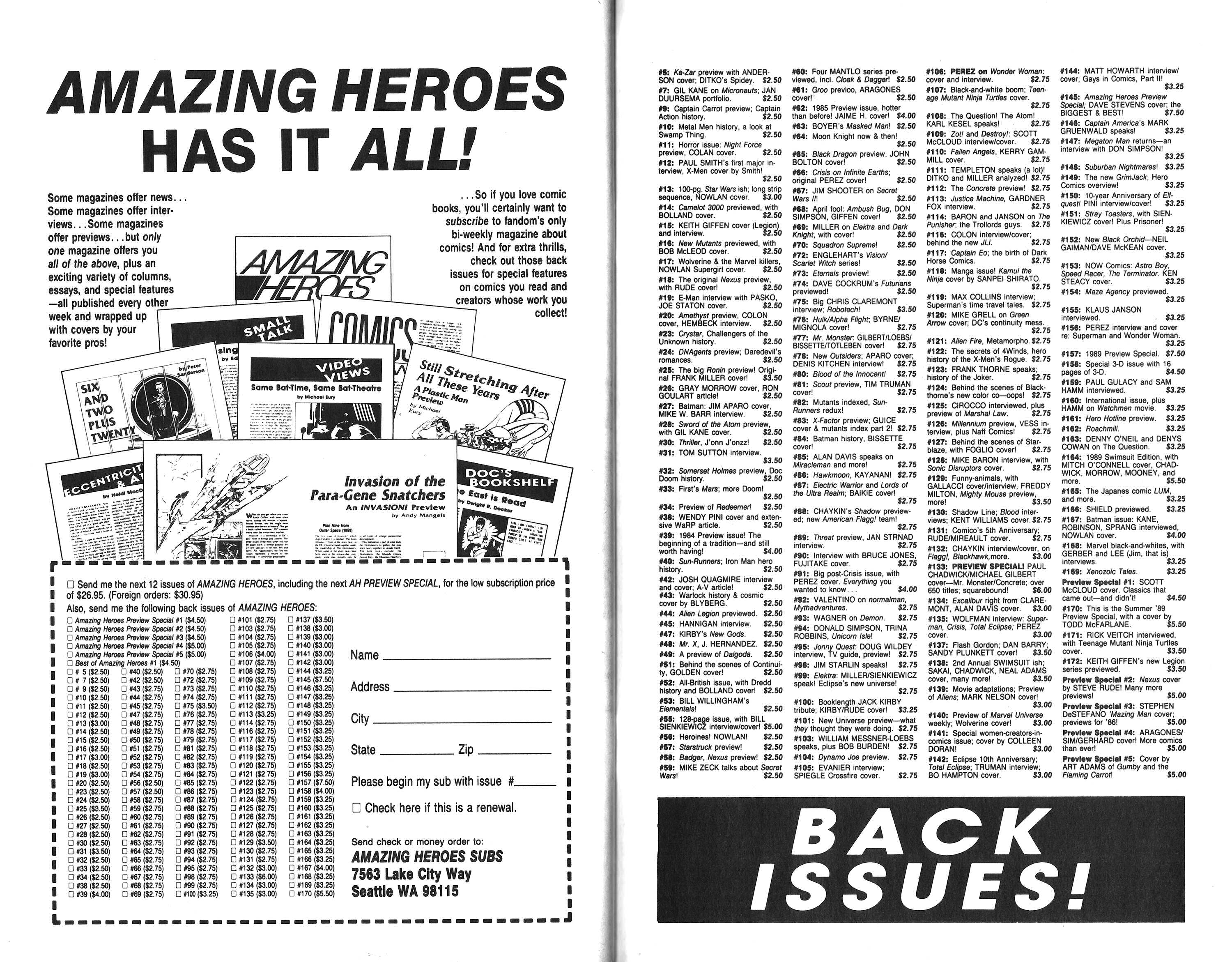 Read online Amazing Heroes comic -  Issue #194 - 41