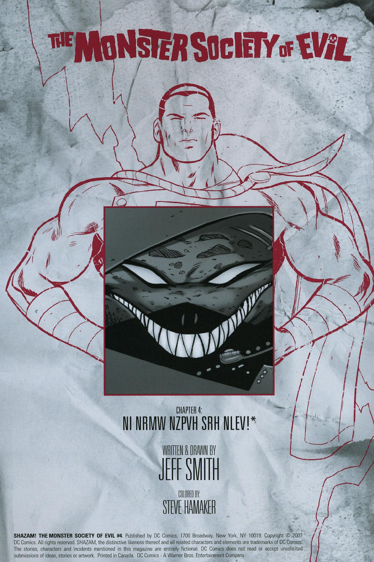 Read online Shazam!: The Monster Society of Evil comic -  Issue #4 - 2