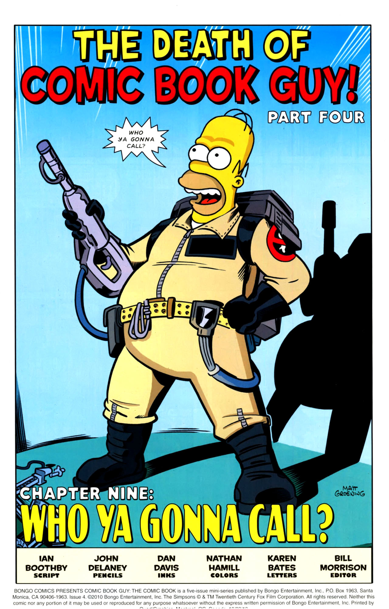 Read online Bongo Comics presents Comic Book Guy: The Comic Book comic -  Issue #4 - 3