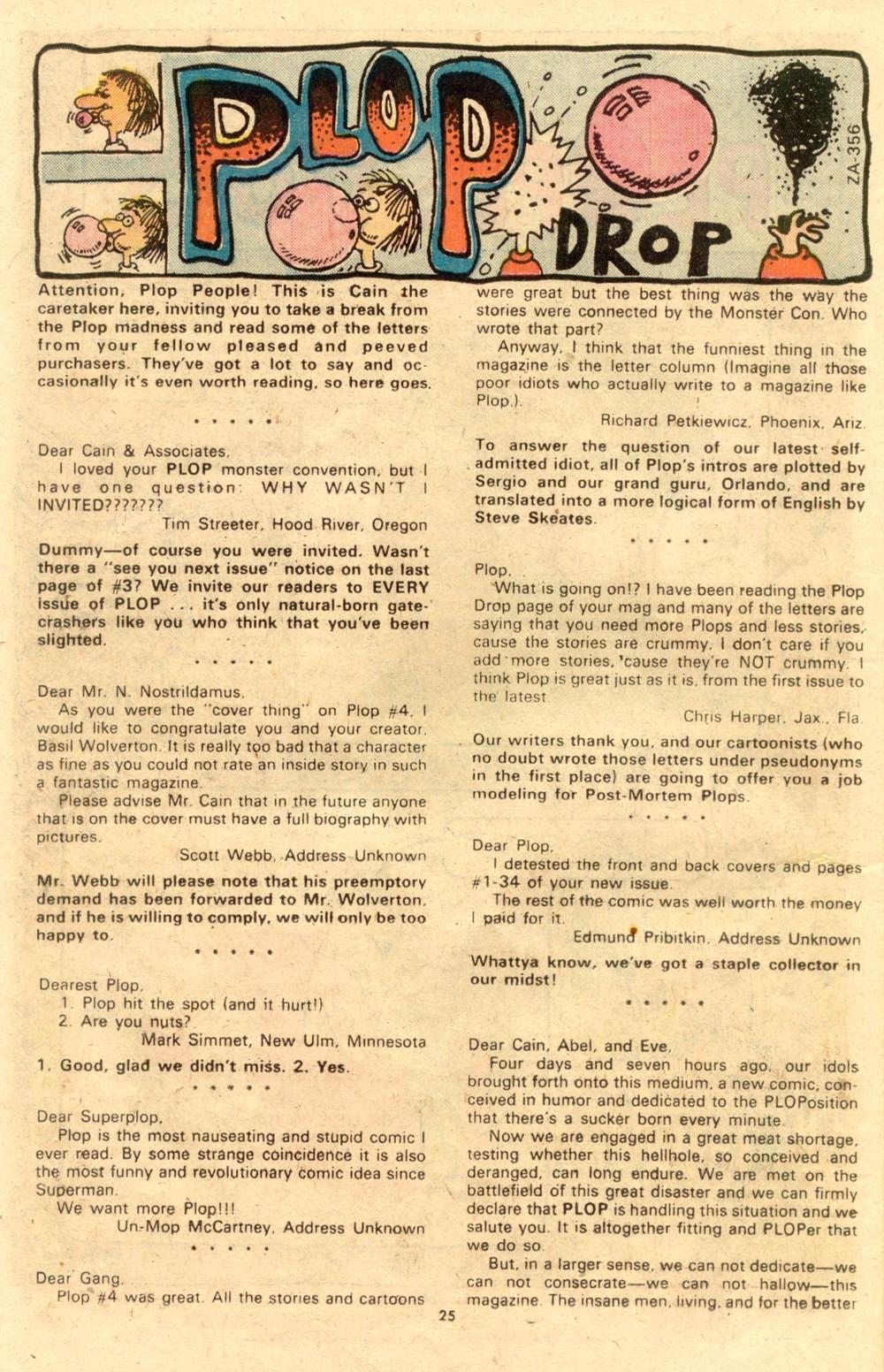 Read online Plop! comic -  Issue #7 - 26