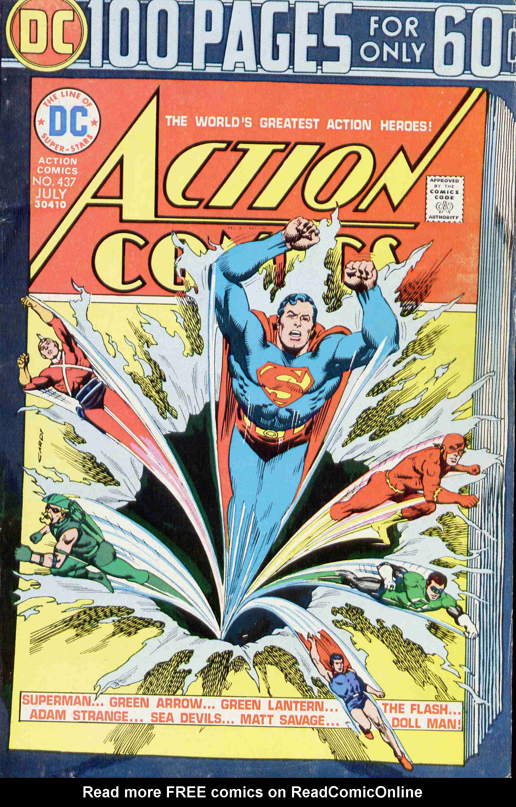 Read online Action Comics (1938) comic -  Issue #437 - 1