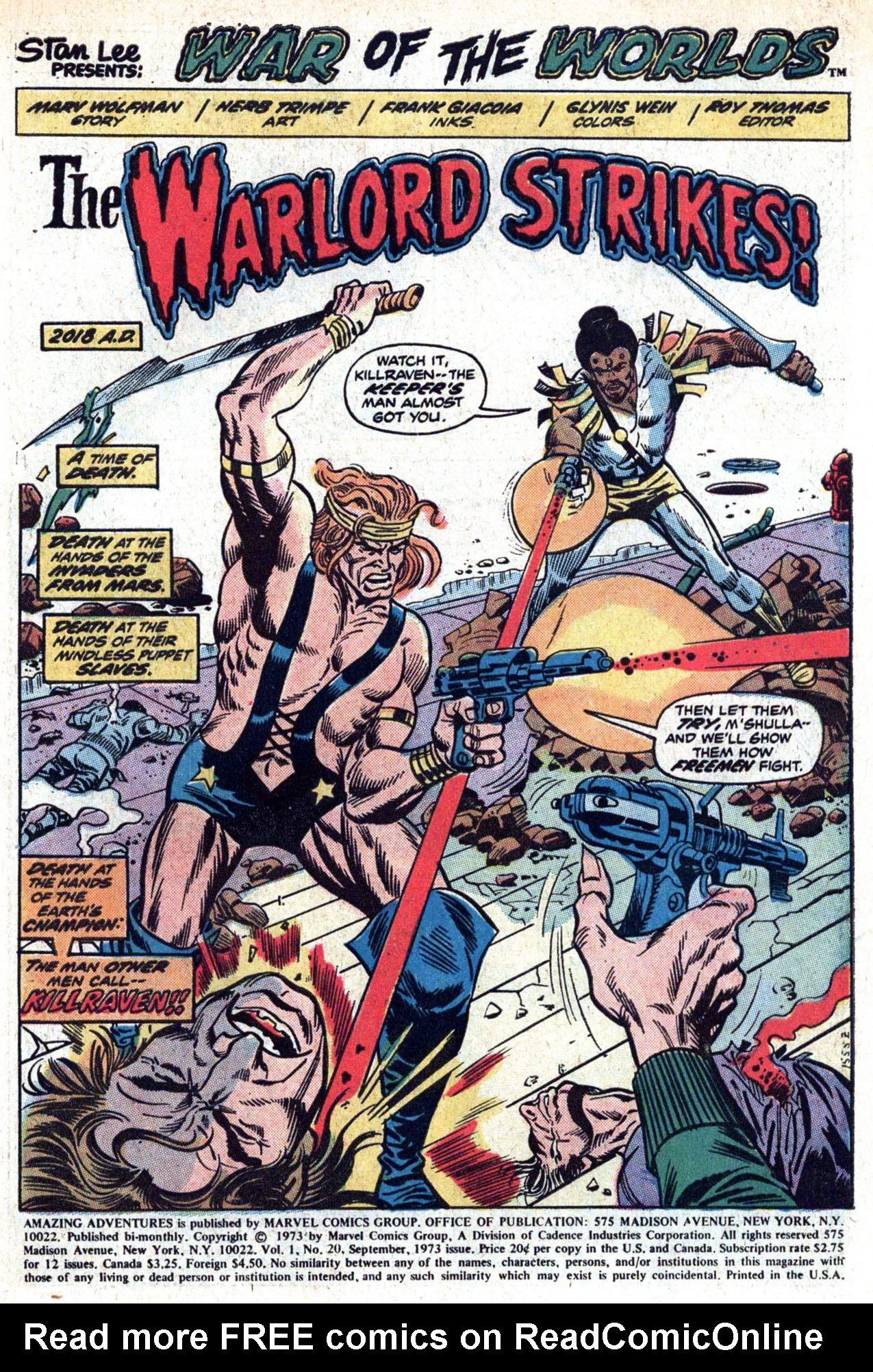 Read online Amazing Adventures (1970) comic -  Issue #20 - 3