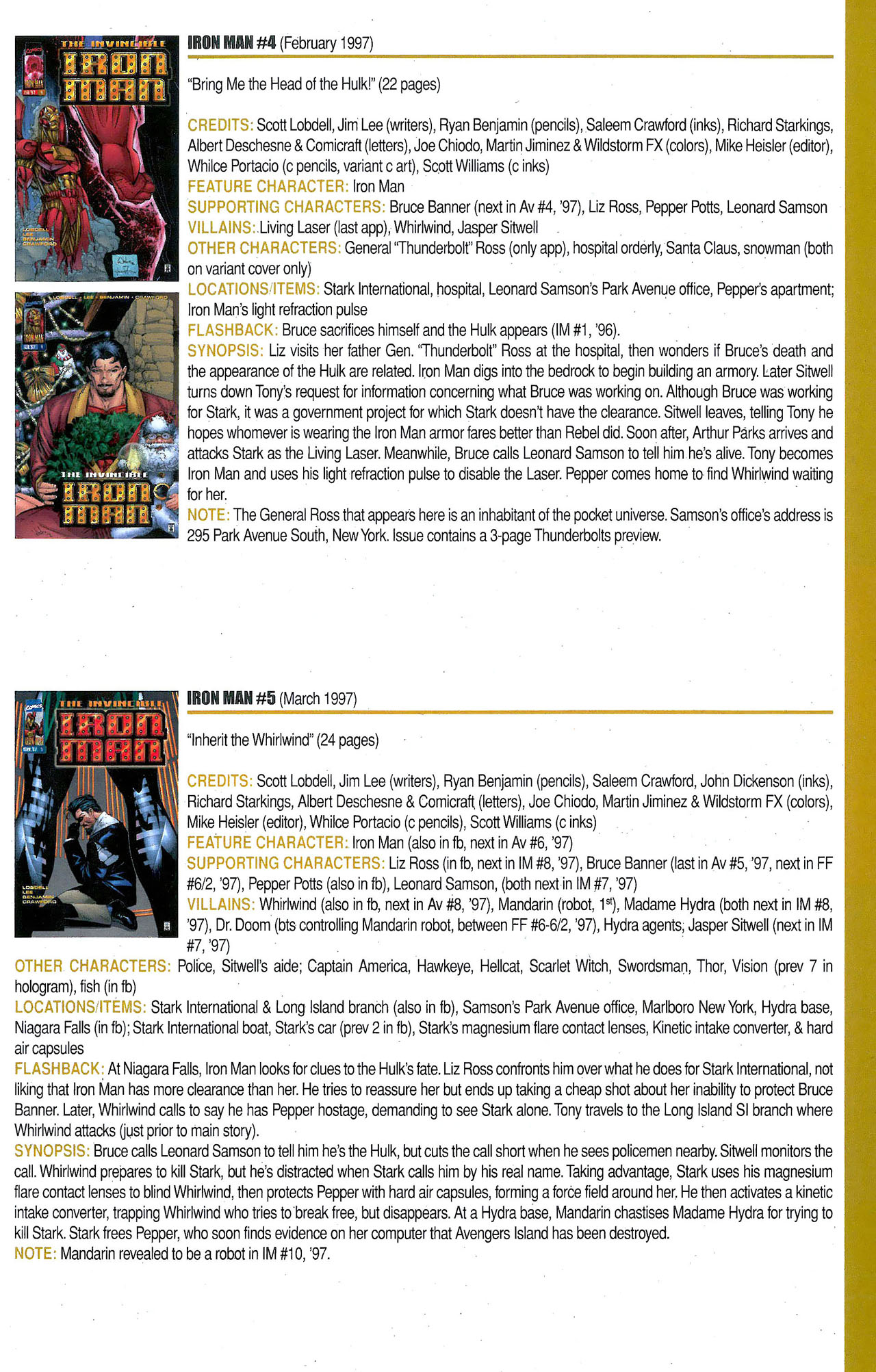 Read online Official Index to the Marvel Universe comic -  Issue #9 - 43