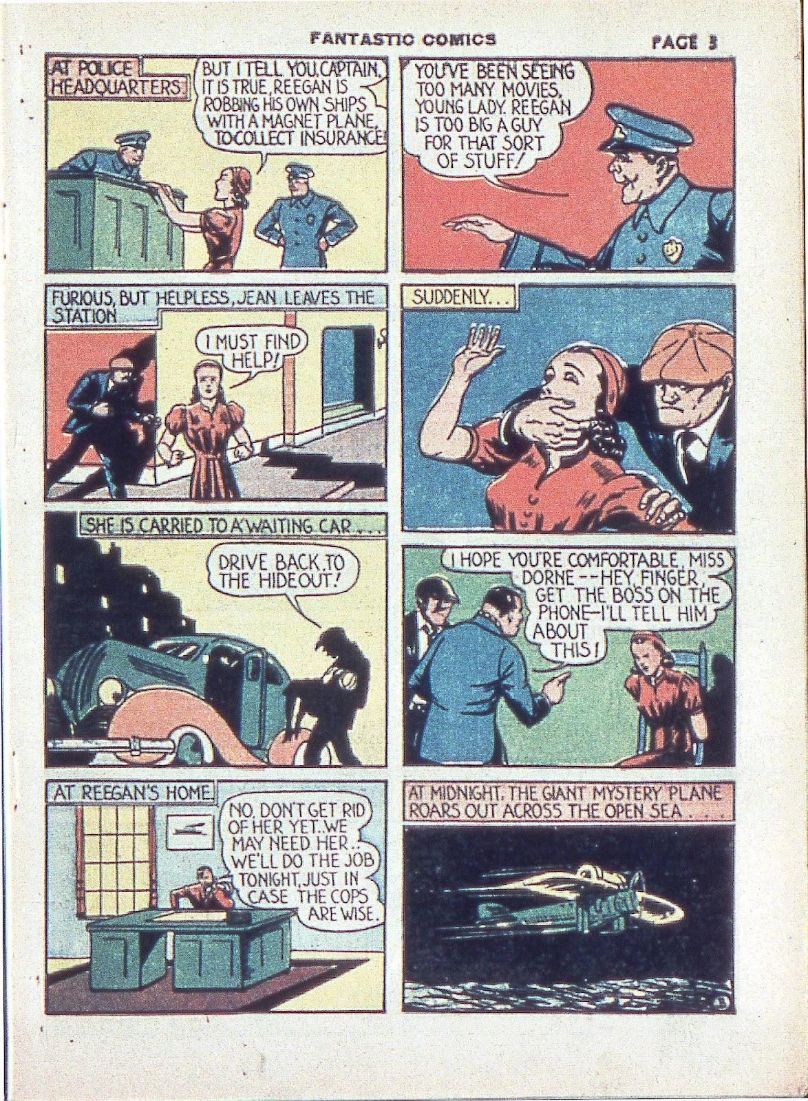 Read online Fantastic Comics comic -  Issue #3 - 6