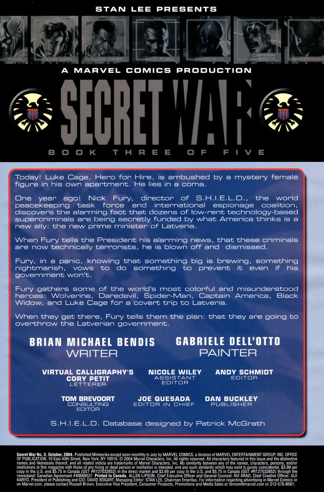 Read online Secret War comic -  Issue #3 - 2