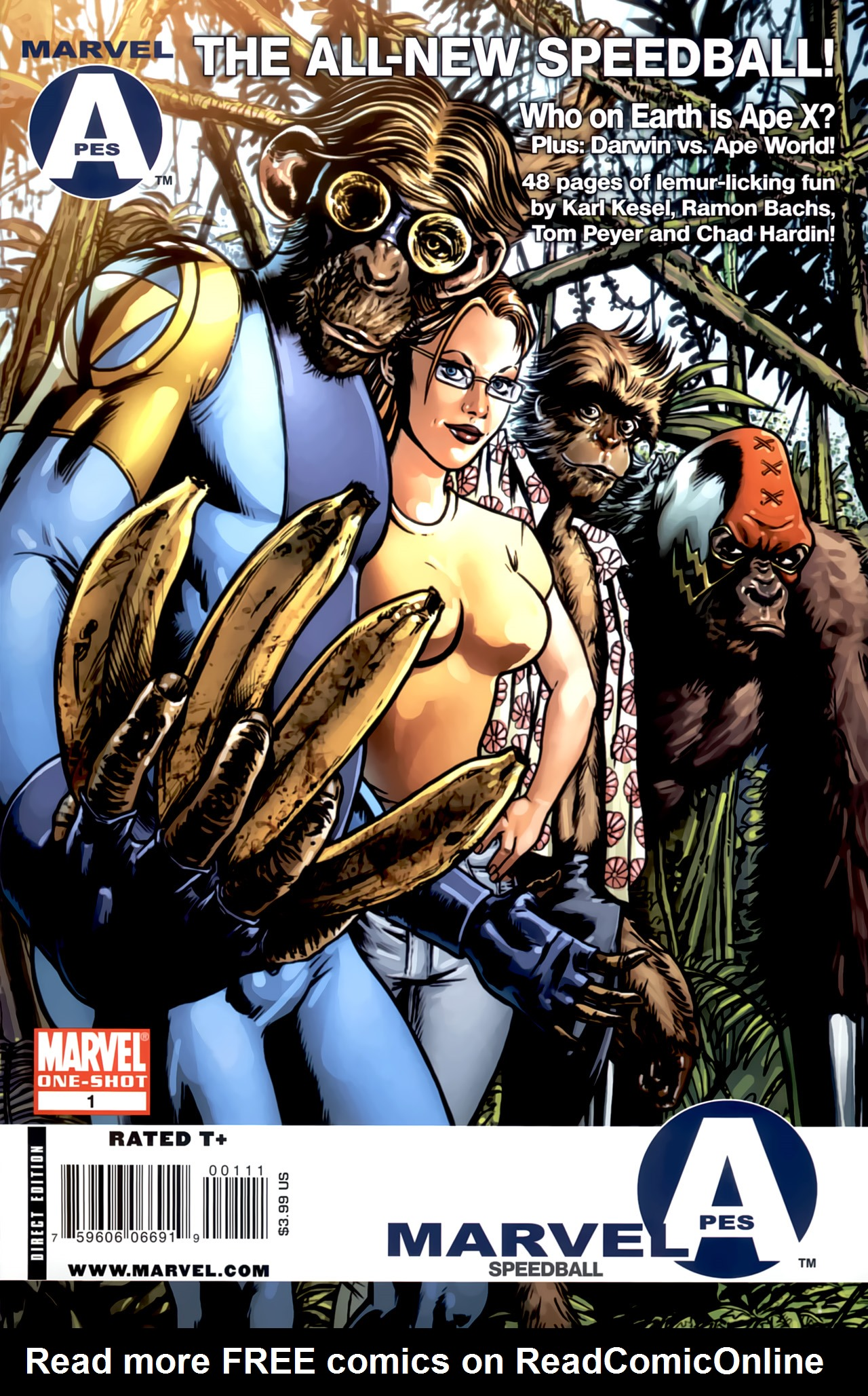 Read online Marvel Apes: Speedball Special comic -  Issue # Full - 1