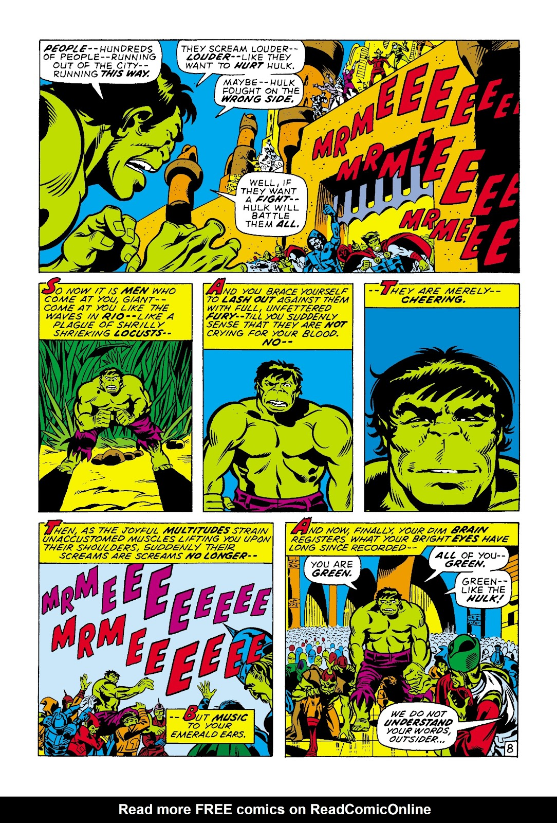 Read online Marvel Masterworks: The Incredible Hulk comic -  Issue # TPB 7 (Part 2) - 35