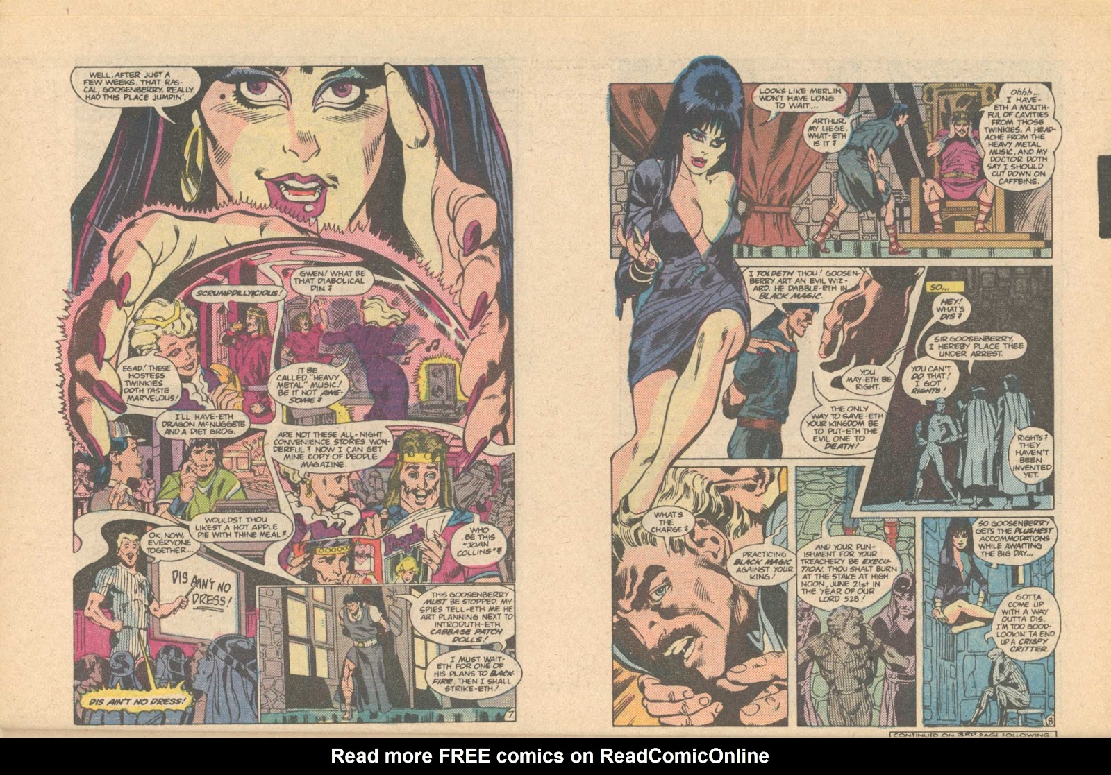 Elvira's House of Mystery Issue #6 #7 - English 6