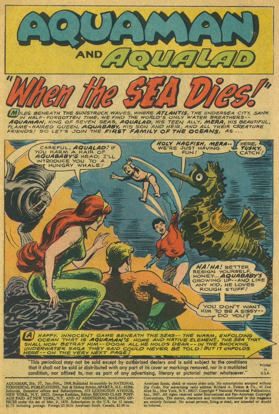Read online Aquaman (1962) comic -  Issue #37 - 3