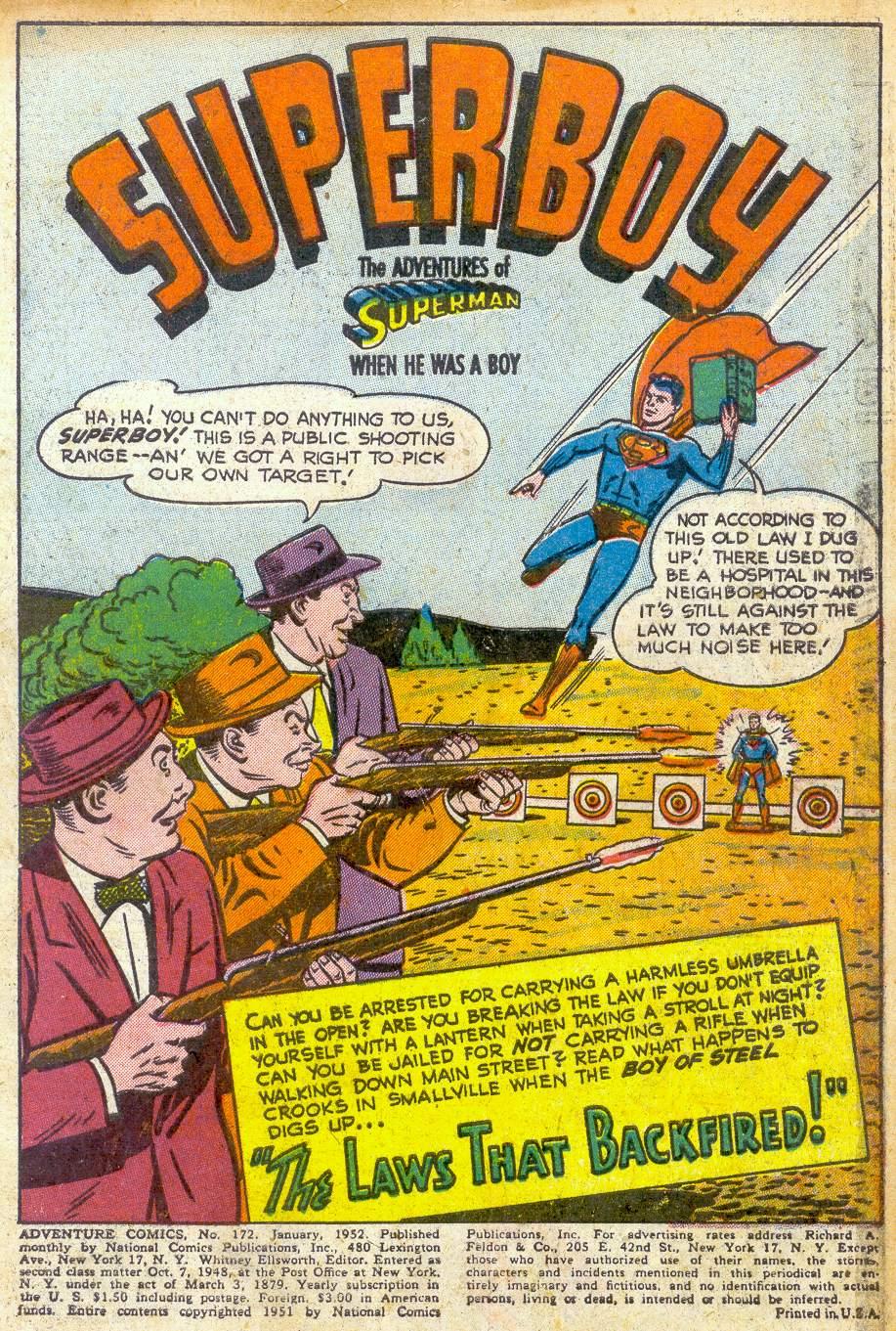 Read online Adventure Comics (1938) comic -  Issue #172 - 3