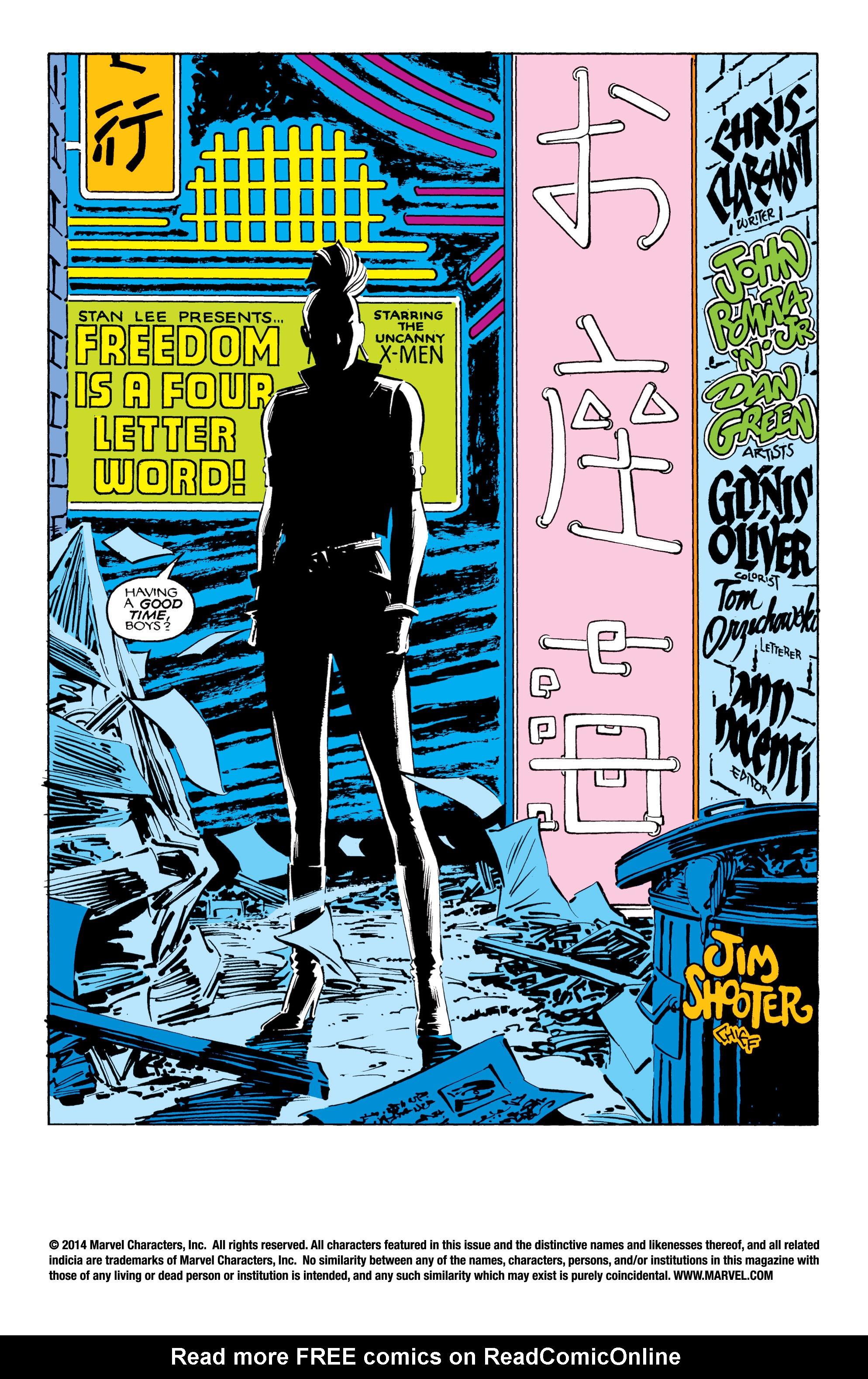 Read online Uncanny X-Men (1963) comic -  Issue #206 - 2