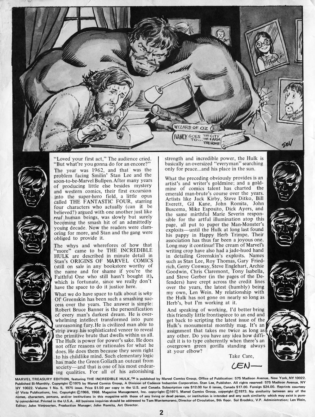 Marvel Treasury Edition 5 Page 1