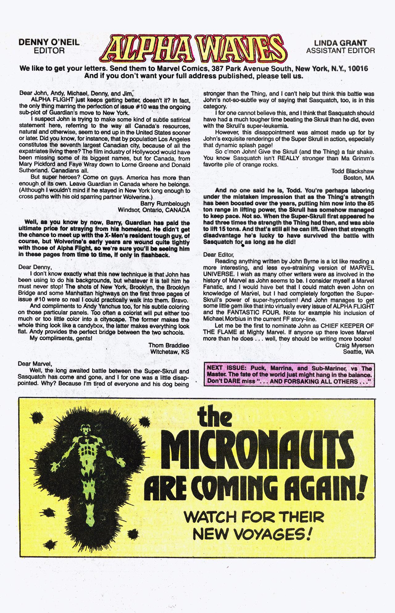 Read online Alpha Flight (1983) comic -  Issue #15 - 25