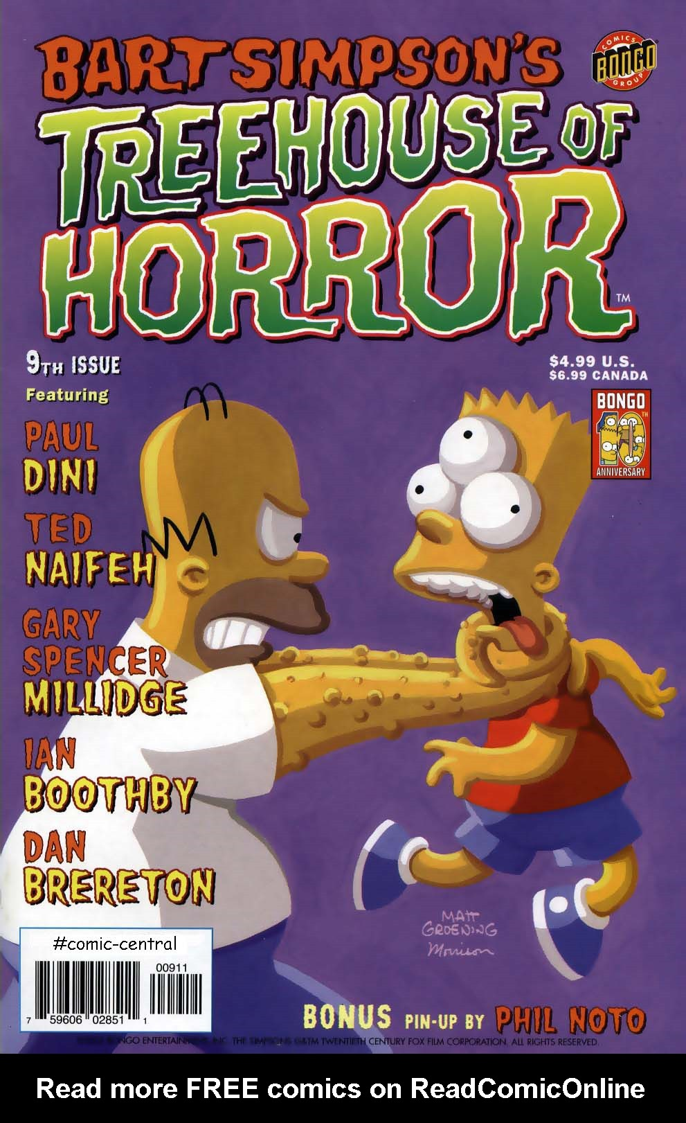 Read online Treehouse of Horror comic -  Issue #9 - 1