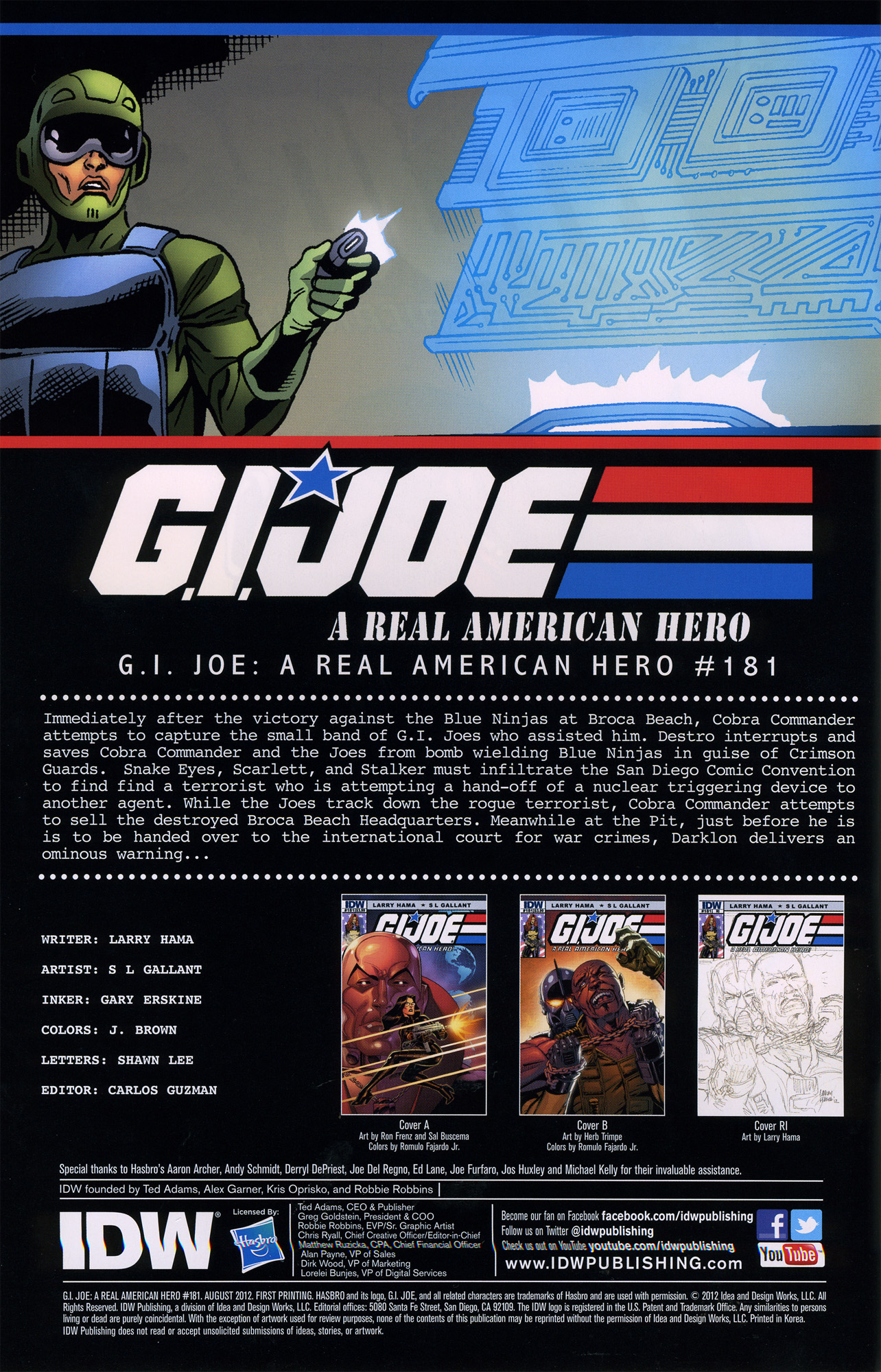G.I. Joe: A Real American Hero 181 Page 2