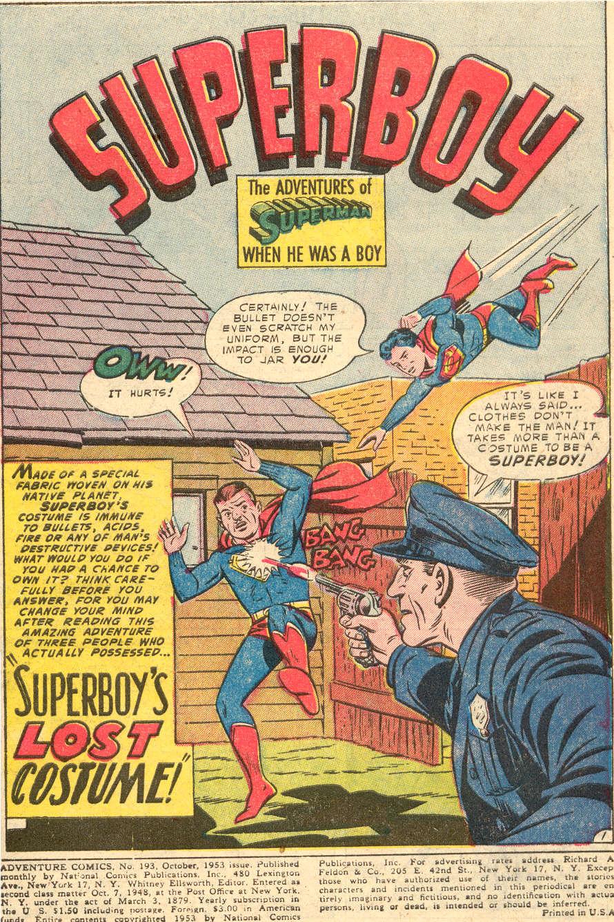 Read online Adventure Comics (1938) comic -  Issue #193 - 3