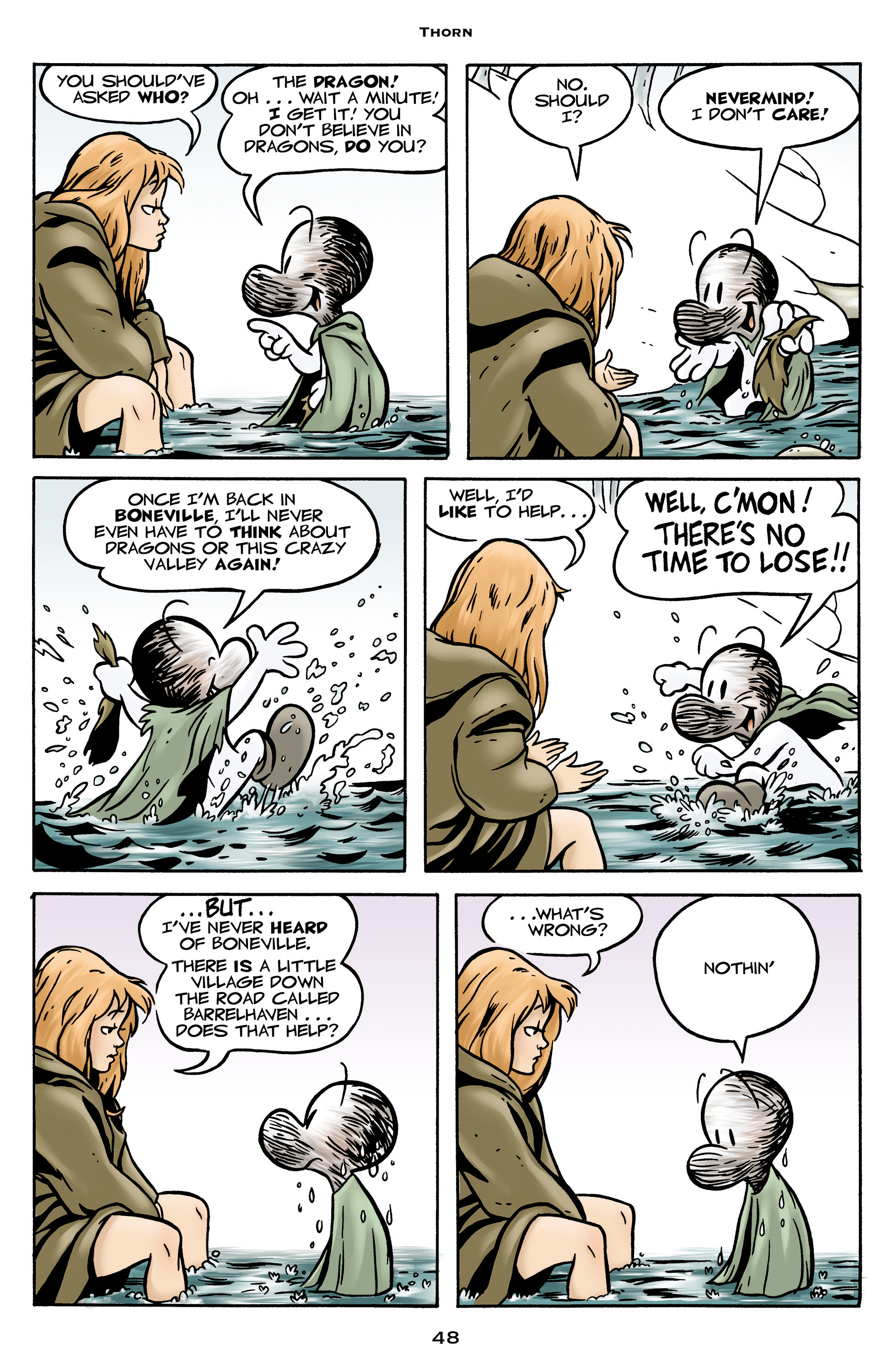 Read online Bone: Out From Boneville comic -  Issue # TPB - 48
