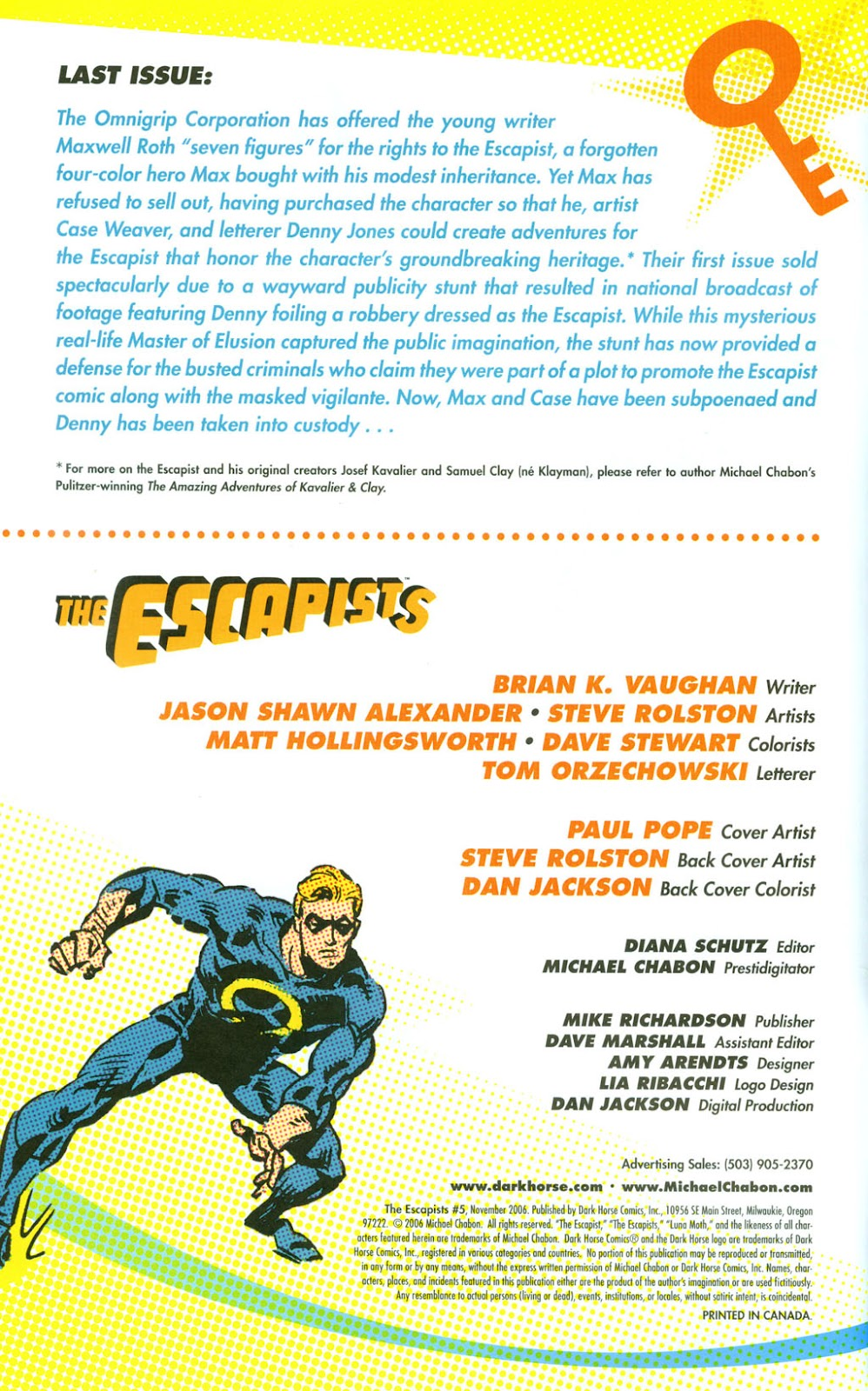 Read online The Escapists comic -  Issue #5 - 2