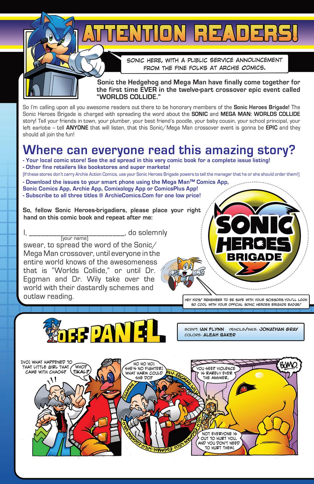 Read online Sonic Mega Man Worlds Collide comic -  Issue # Vol 2 - 105