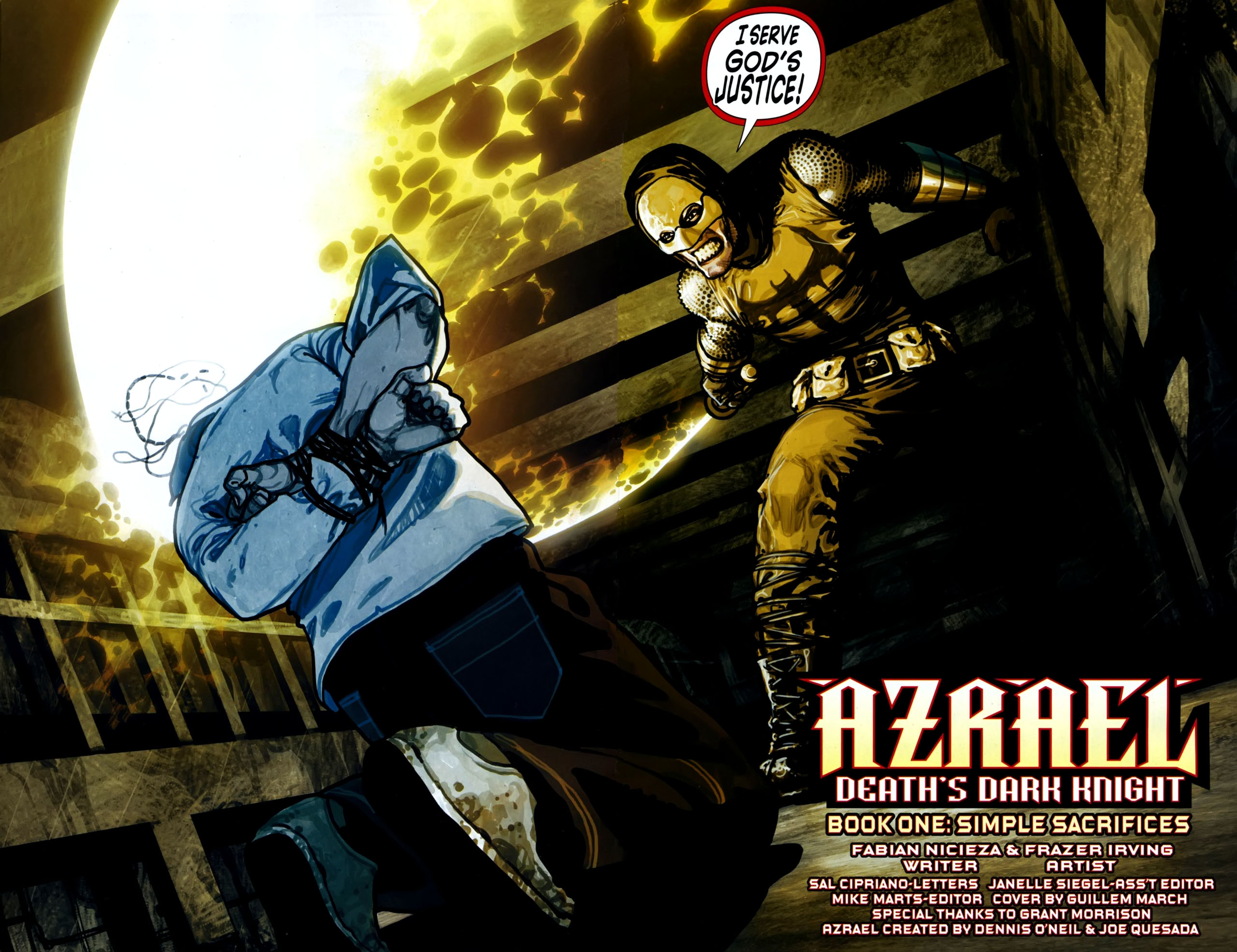 Read online Azrael: Death's Dark Knight comic -  Issue #1 - 4