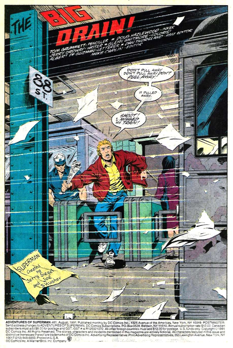 Read online Adventures of Superman (1987) comic -  Issue #481 - 2