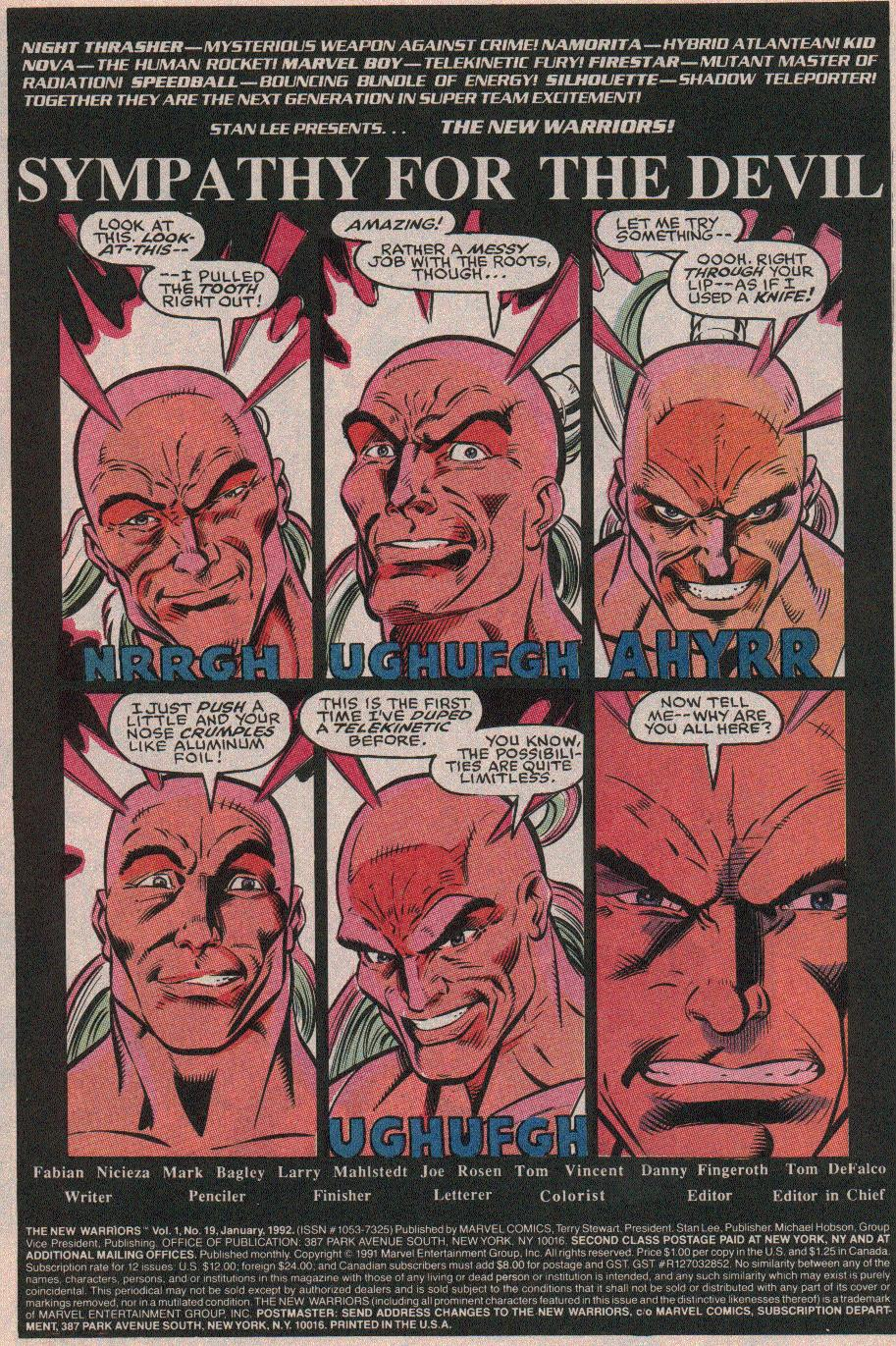 The New Warriors Issue #19 #23 - English 2