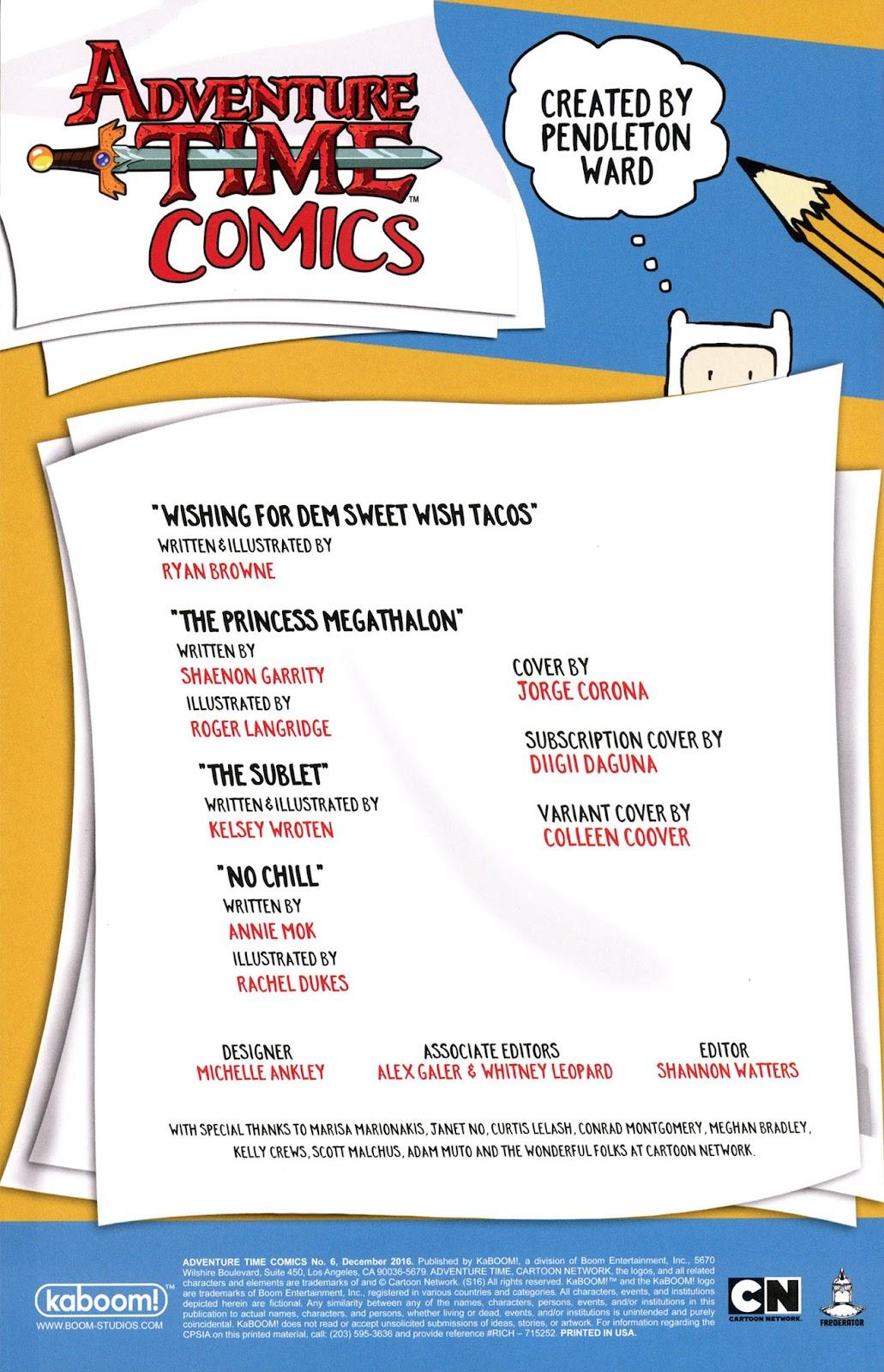 Read online Adventure Time Comics comic -  Issue #6 - 2