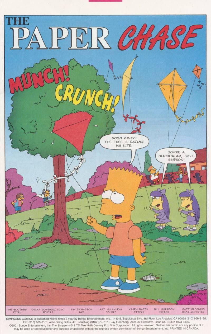 Read online Simpsons Comics comic -  Issue #61 - 2