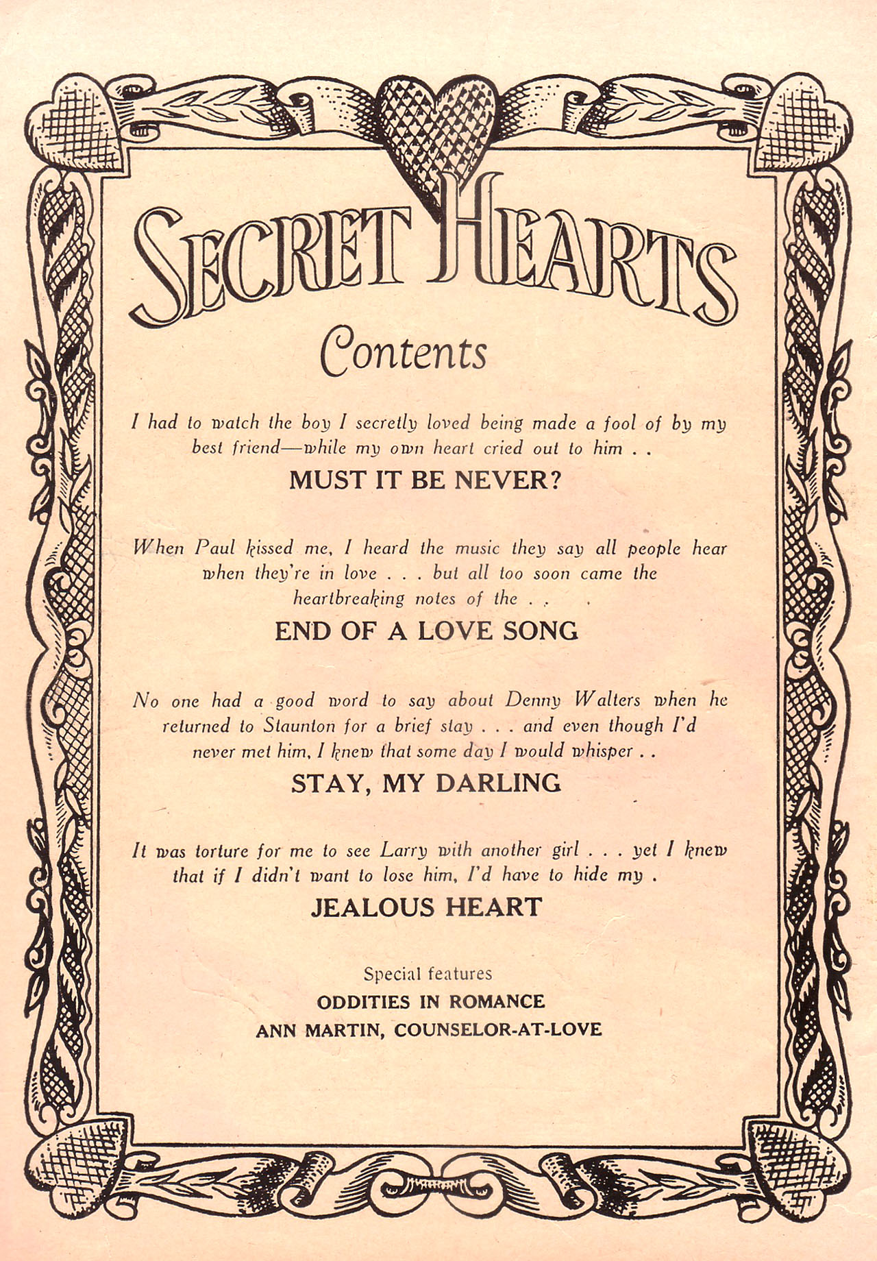 Read online Secret Hearts comic -  Issue #23 - 2