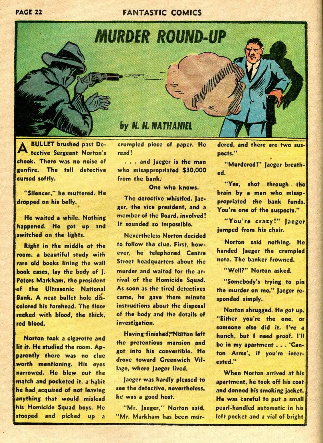 Read online Fantastic Comics comic -  Issue #21 - 24
