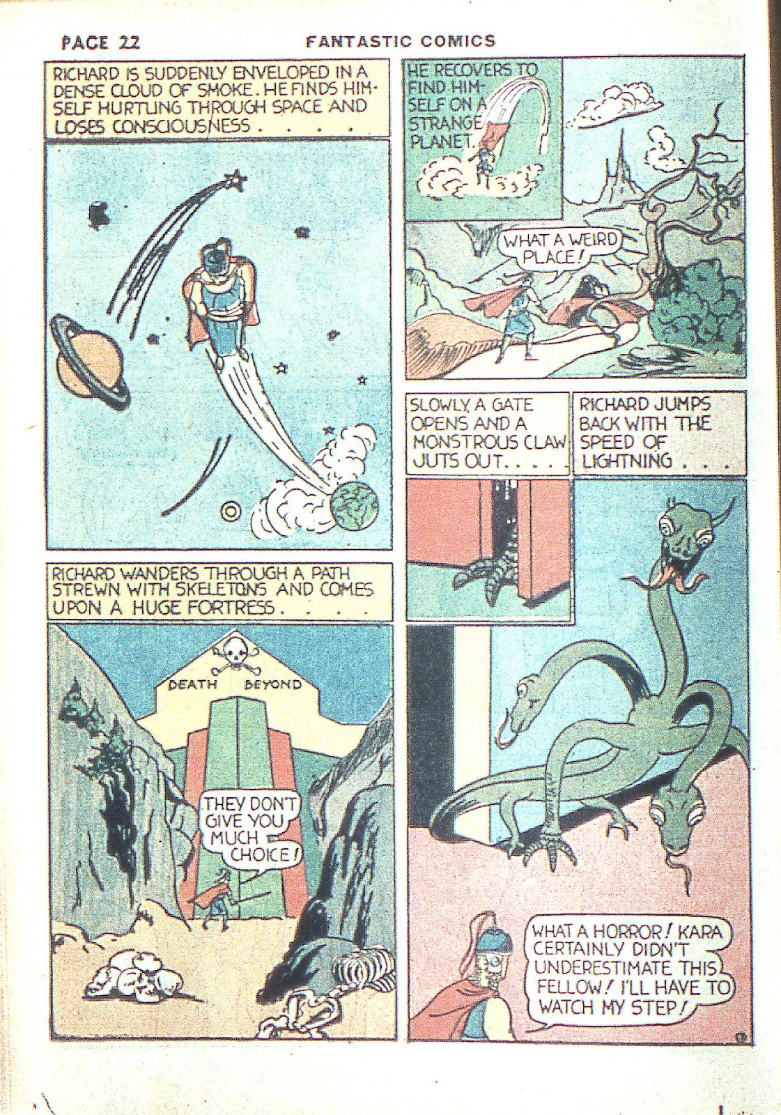 Read online Fantastic Comics comic -  Issue #3 - 25