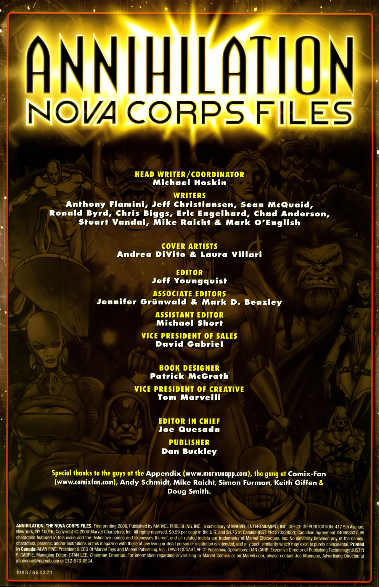 Read online Annihilation:  The  Nova Corps Files comic -  Issue #Annihilation:  The  Nova Corps Files Full - 2