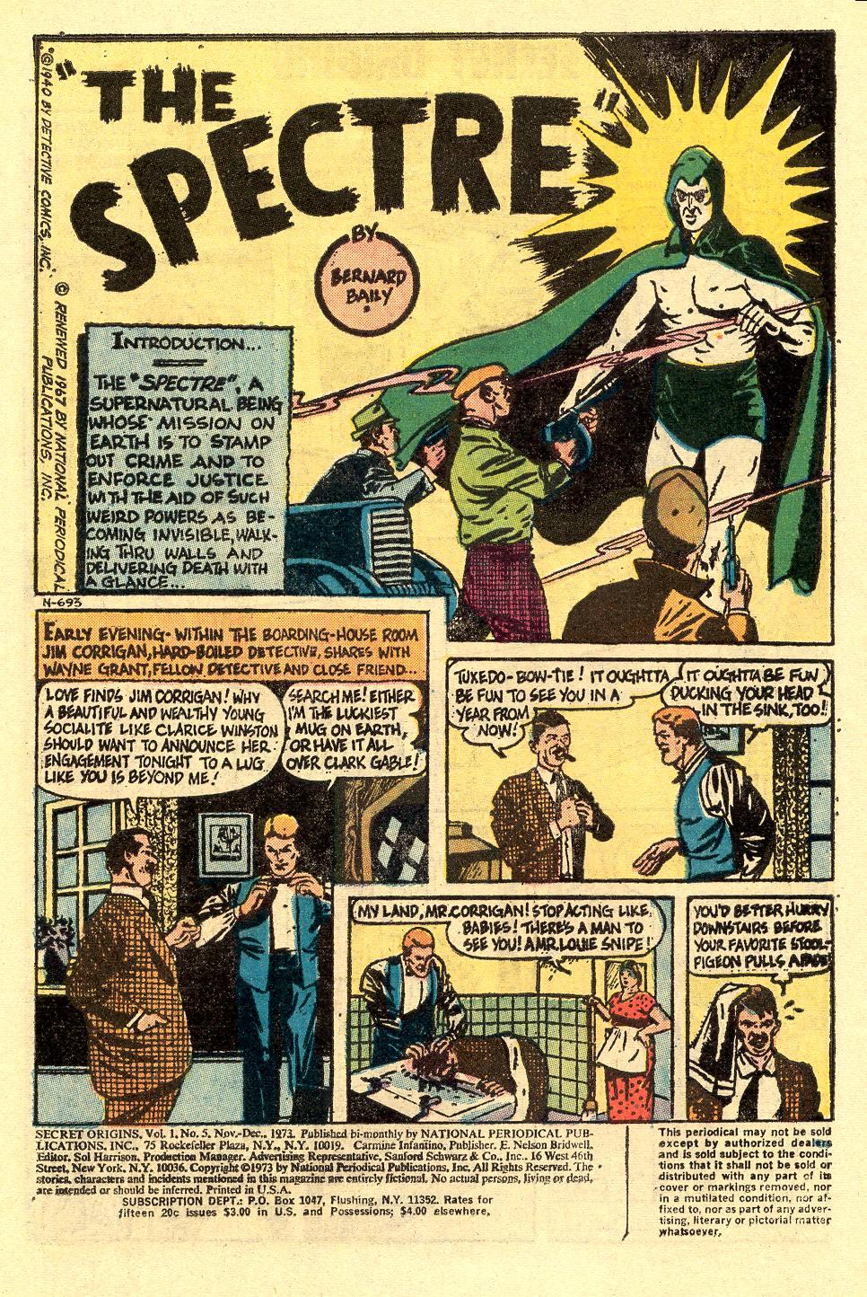 Read online Secret Origins (1973) comic -  Issue #5 - 3