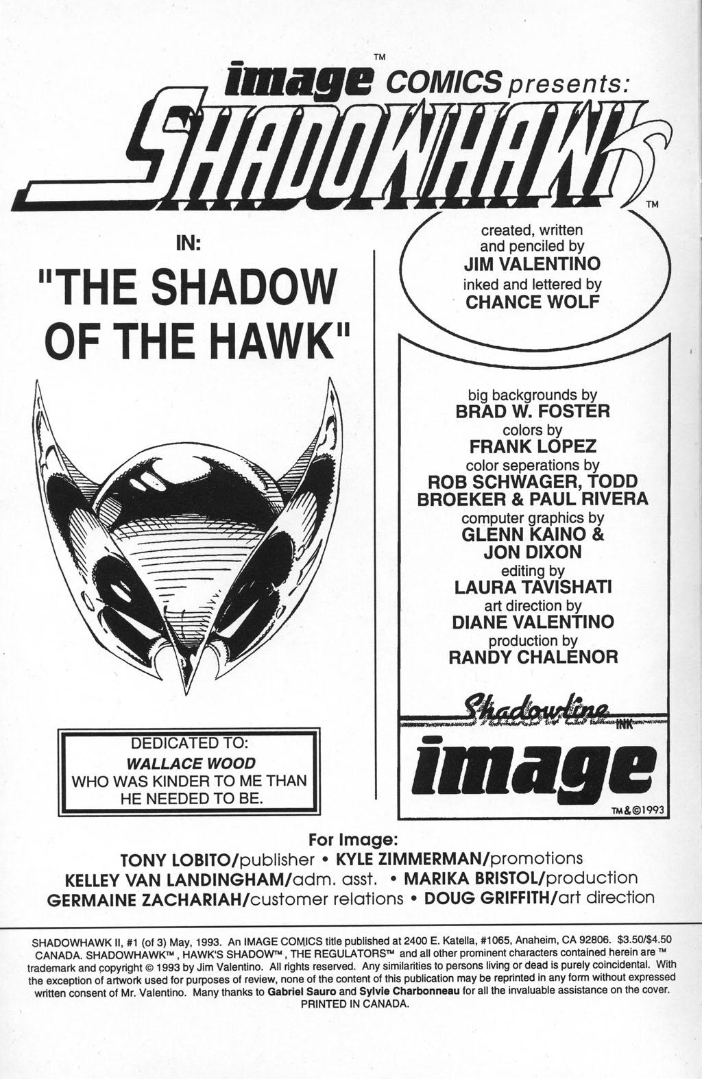 Read online ShadowHawk comic -  Issue #5 - 3