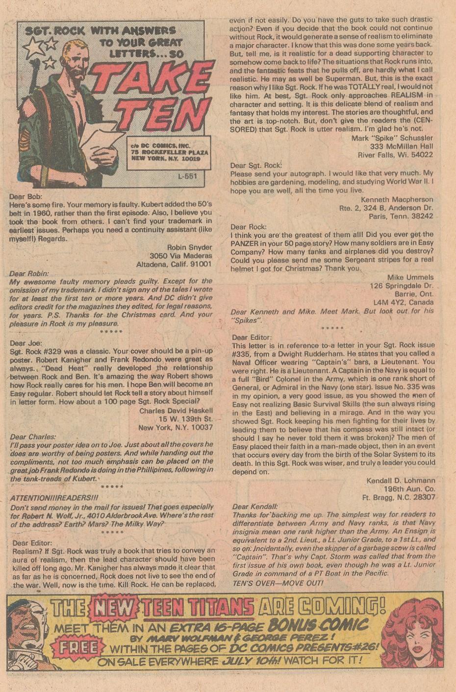 Read online Sgt. Rock comic -  Issue #345 - 27