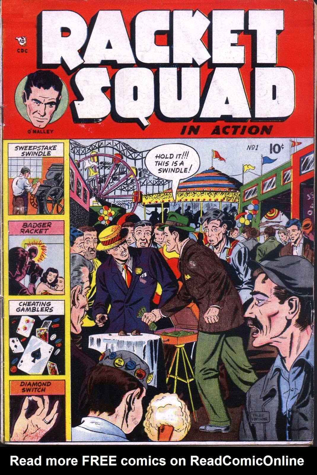 Read online Racket Squad in Action comic -  Issue #1 - 1