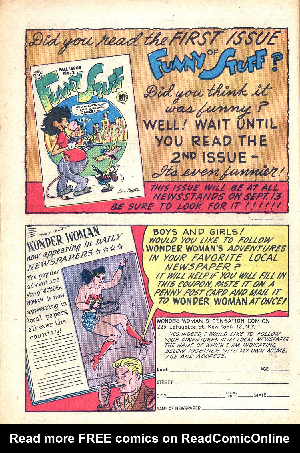 Read online Sensation (Mystery) Comics comic -  Issue #34 - 32
