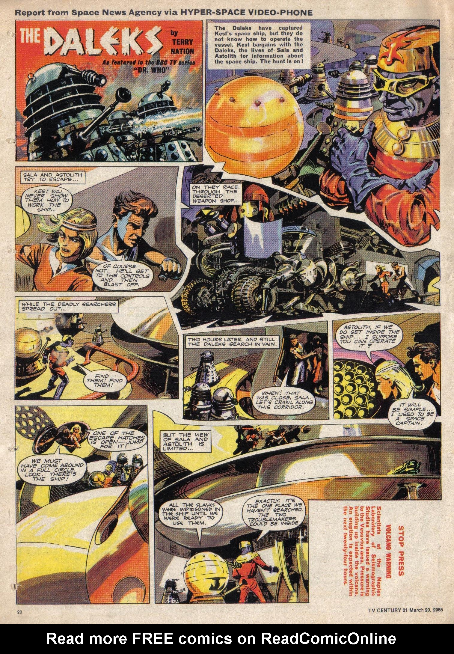 Read online TV Century 21 (TV 21) comic -  Issue #9 - 20