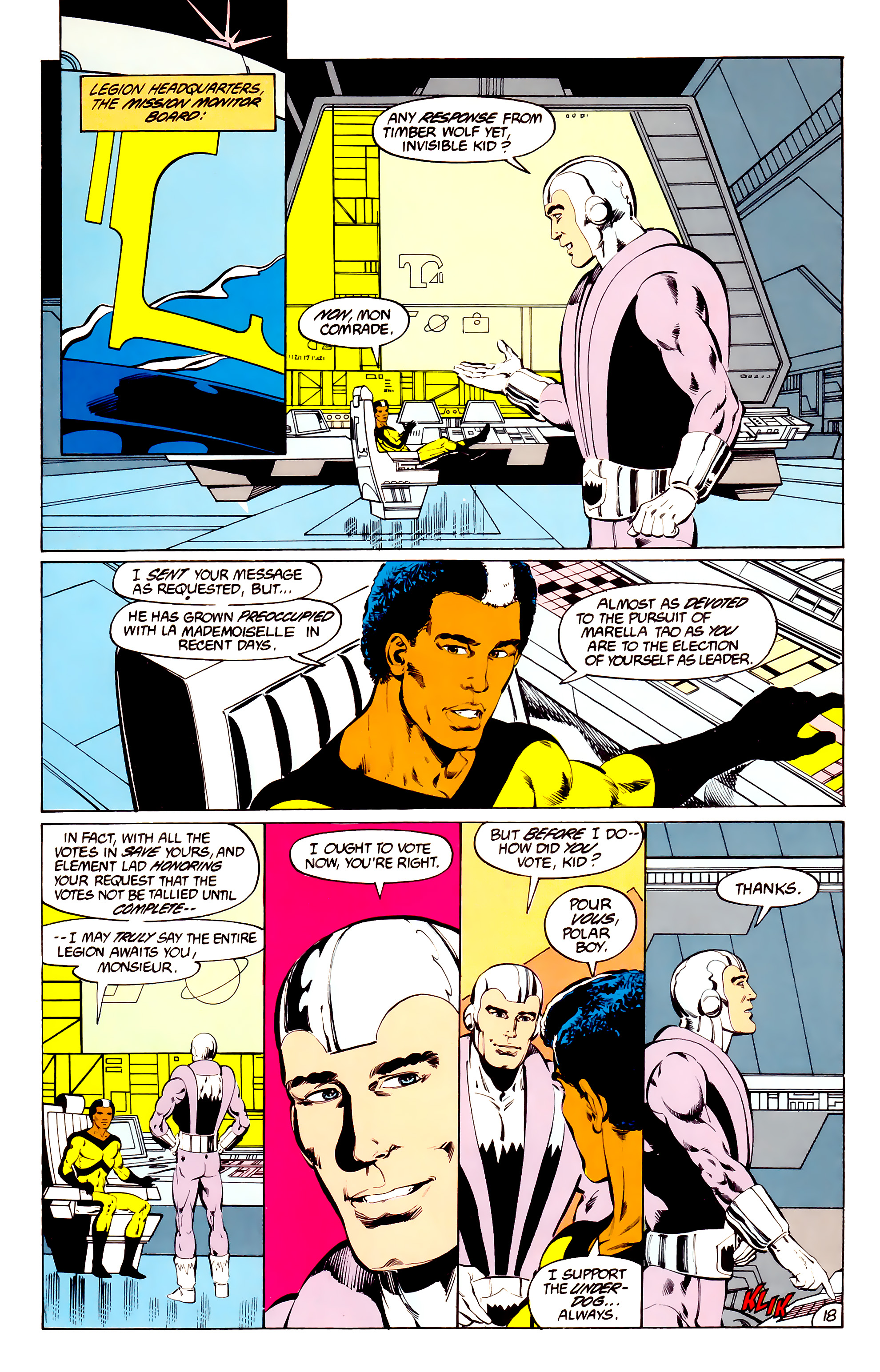 Legion of Super-Heroes (1984) 36 Page 18