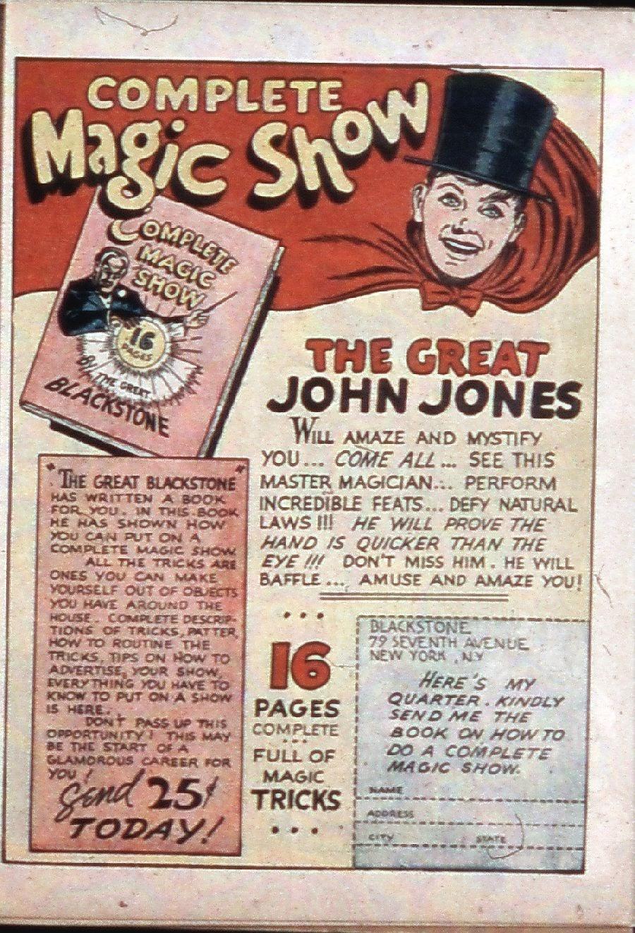 Read online Super-Magician Comics comic -  Issue #3 - 44