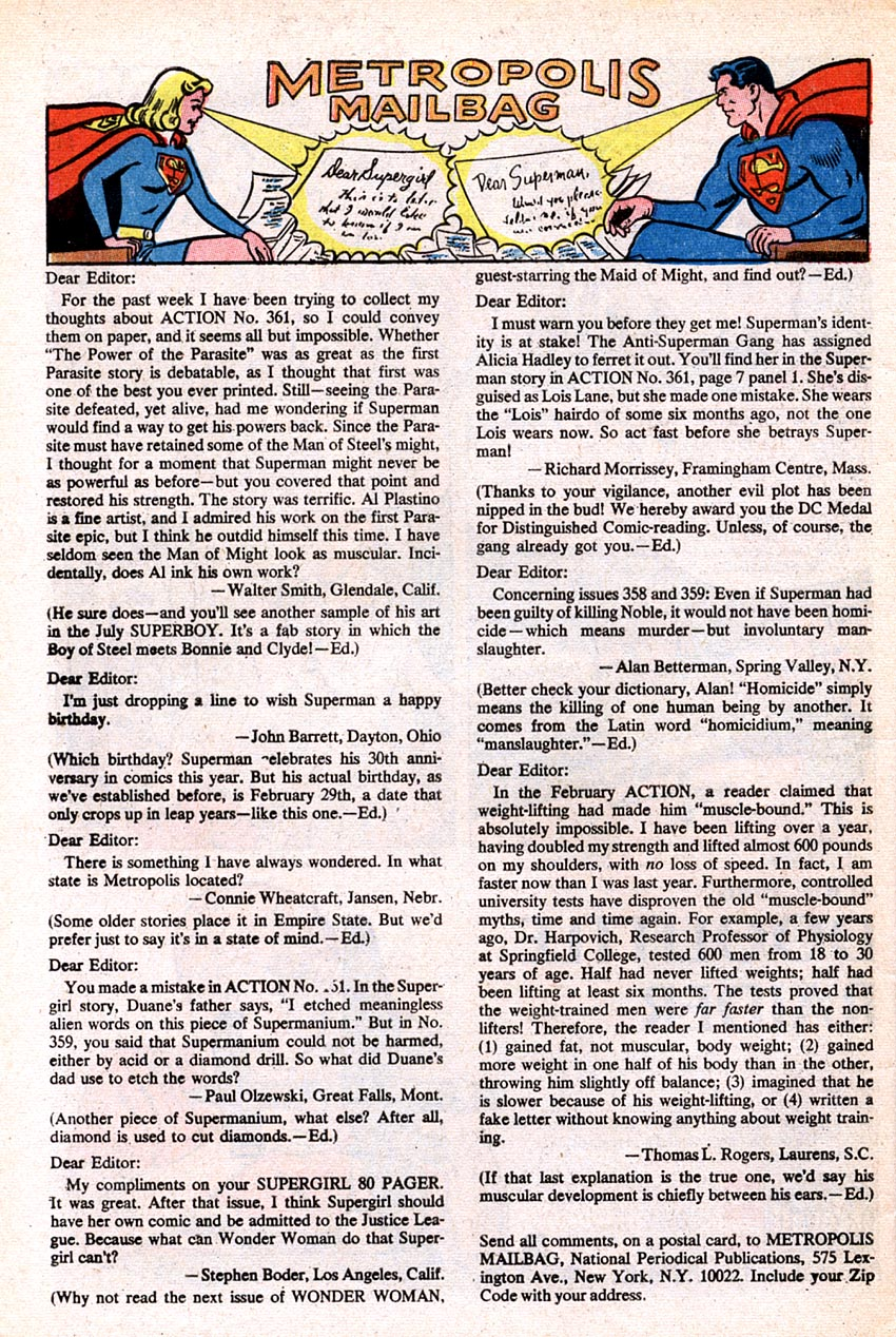 Read online Action Comics (1938) comic -  Issue #364 - 33