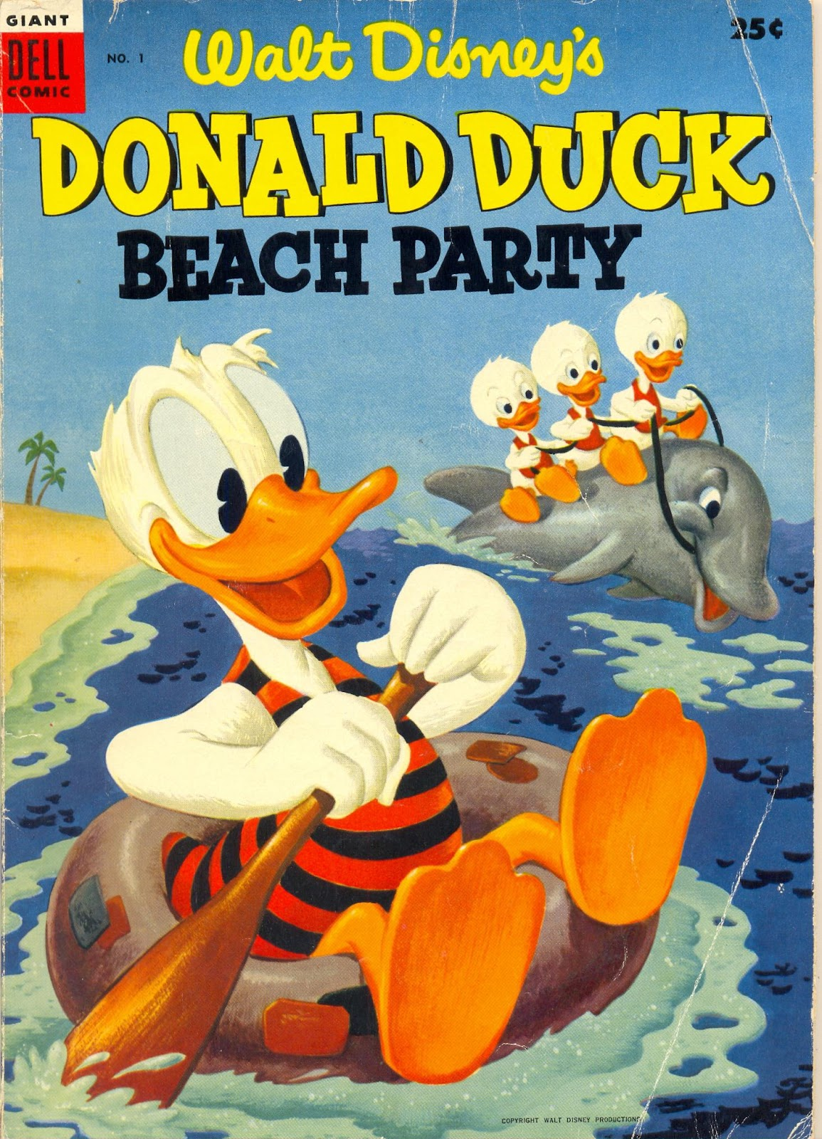 Donald Duck Beach Party issue 1 - Page 1